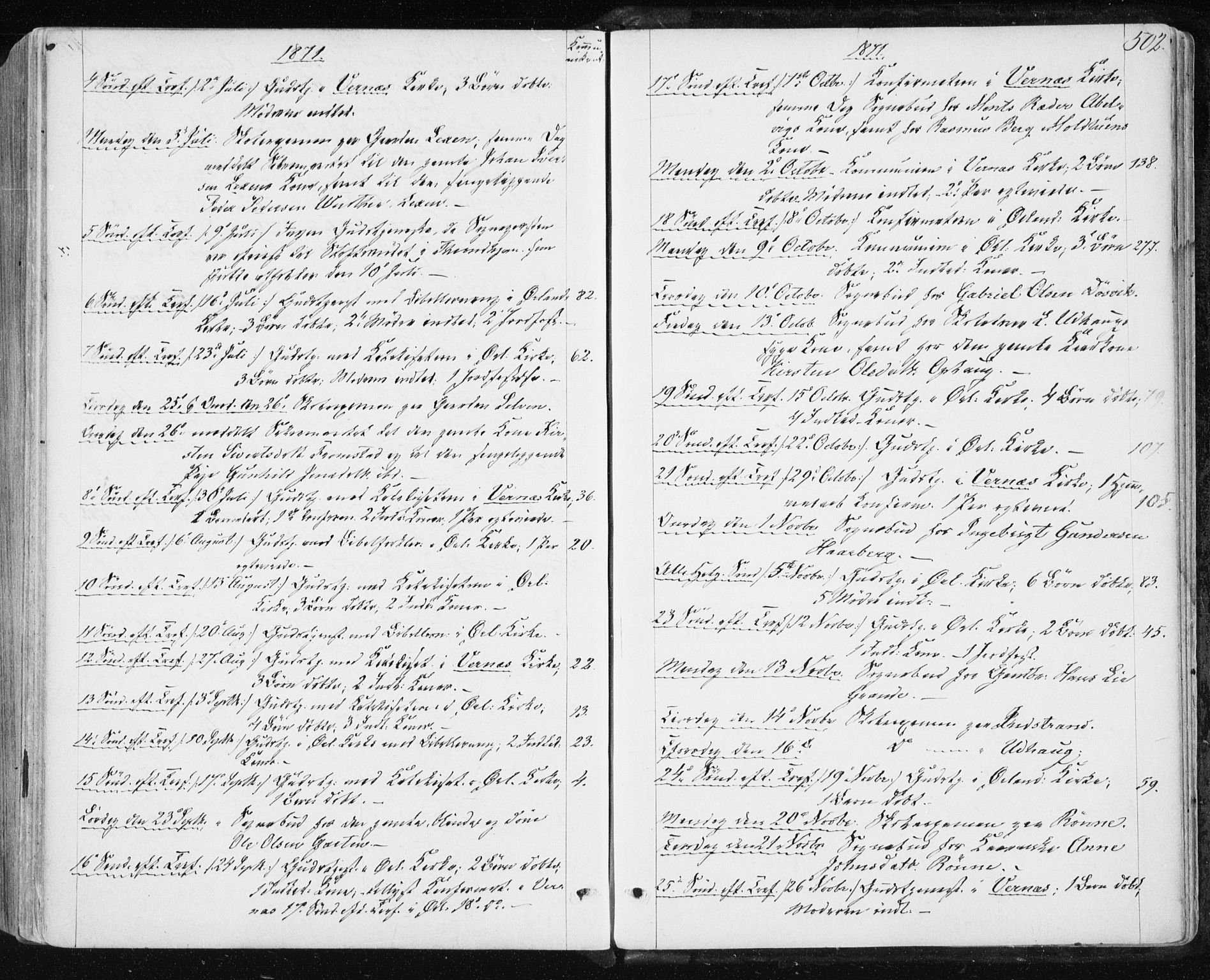 SAT, Ministerialprotokoller, klokkerbøker og fødselsregistre - Sør-Trøndelag, 659/L0737: Ministerialbok nr. 659A07, 1857-1875, s. 502