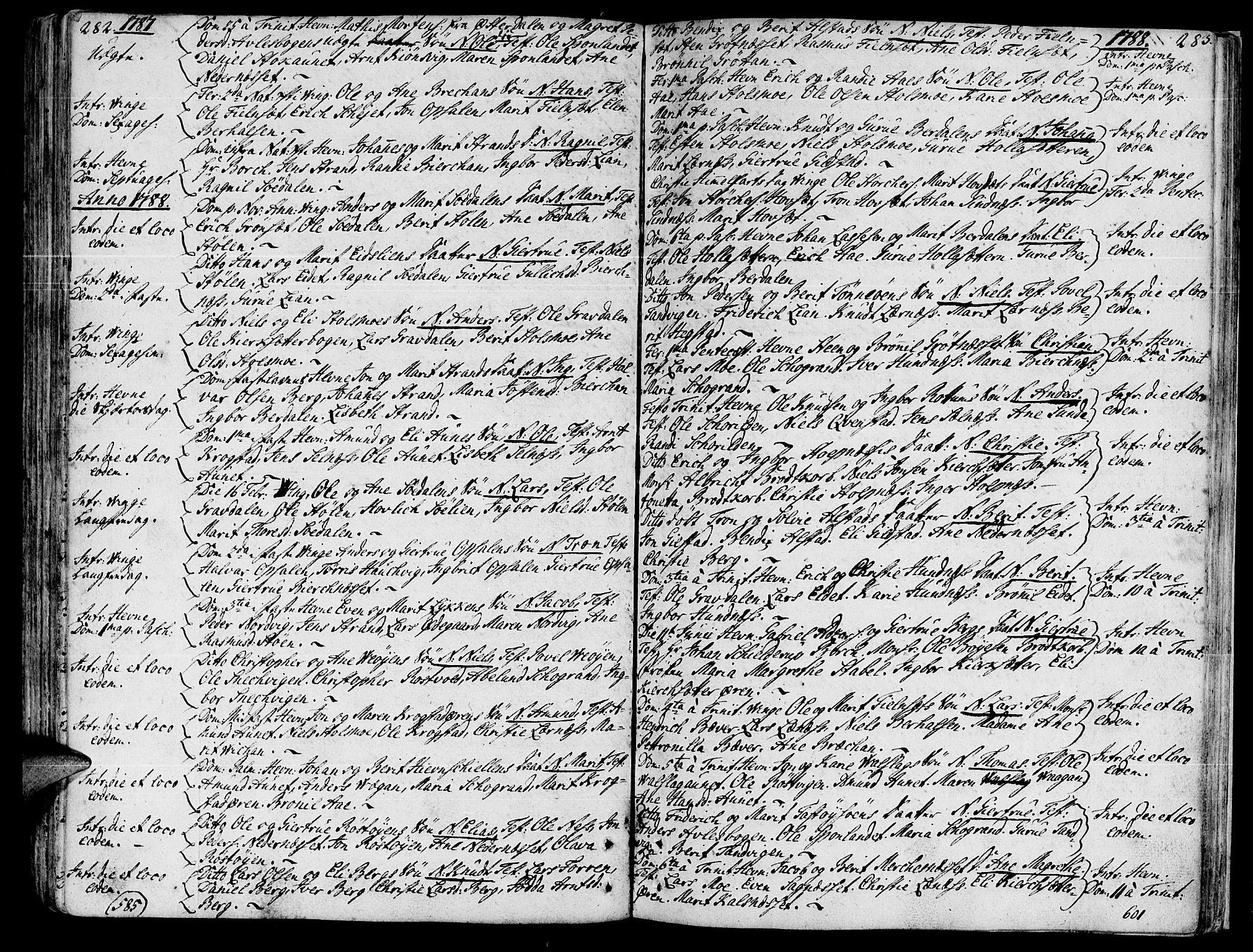 SAT, Ministerialprotokoller, klokkerbøker og fødselsregistre - Sør-Trøndelag, 630/L0489: Ministerialbok nr. 630A02, 1757-1794, s. 282-283