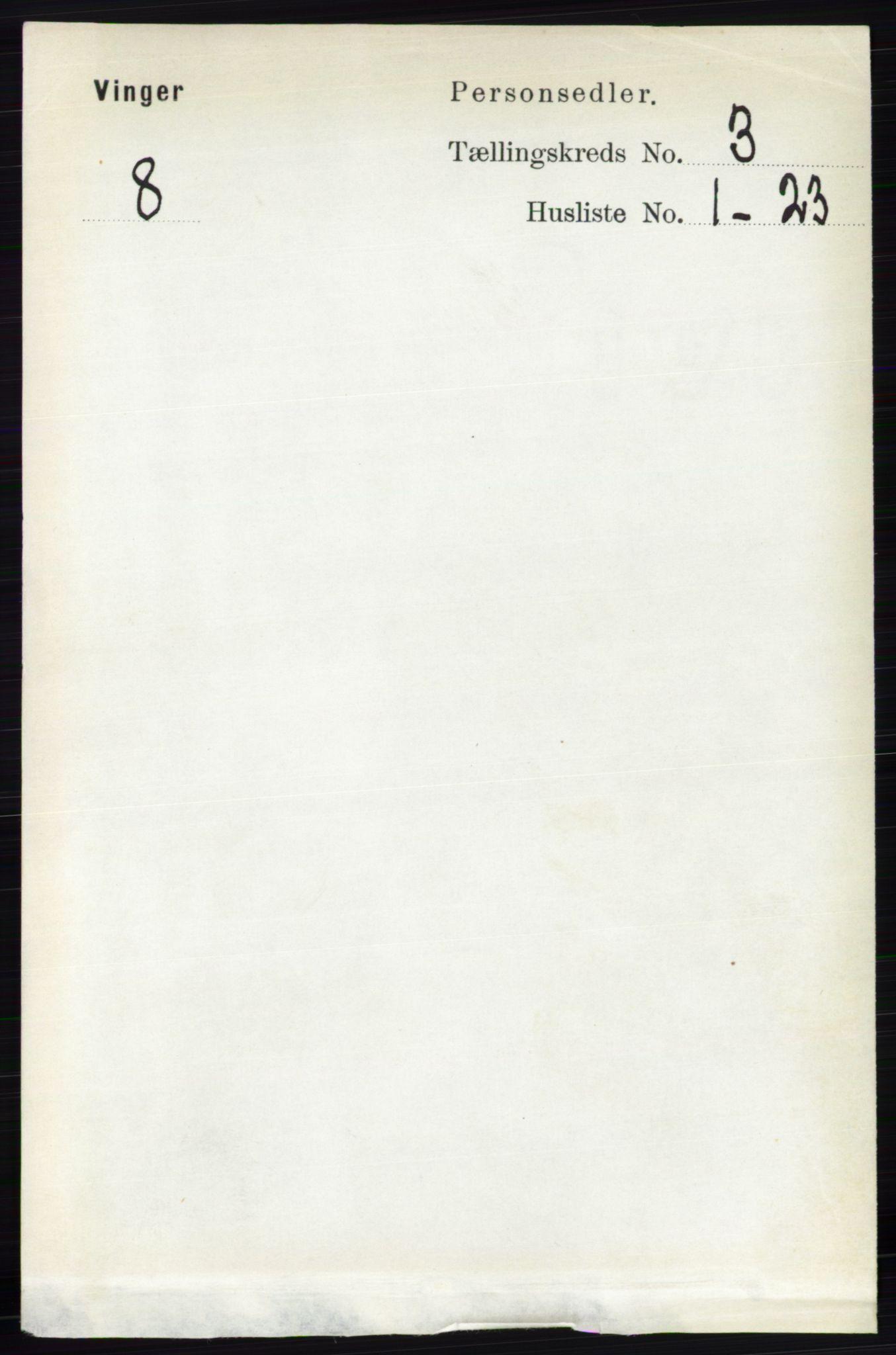 RA, Folketelling 1891 for 0421 Vinger herred, 1891, s. 893