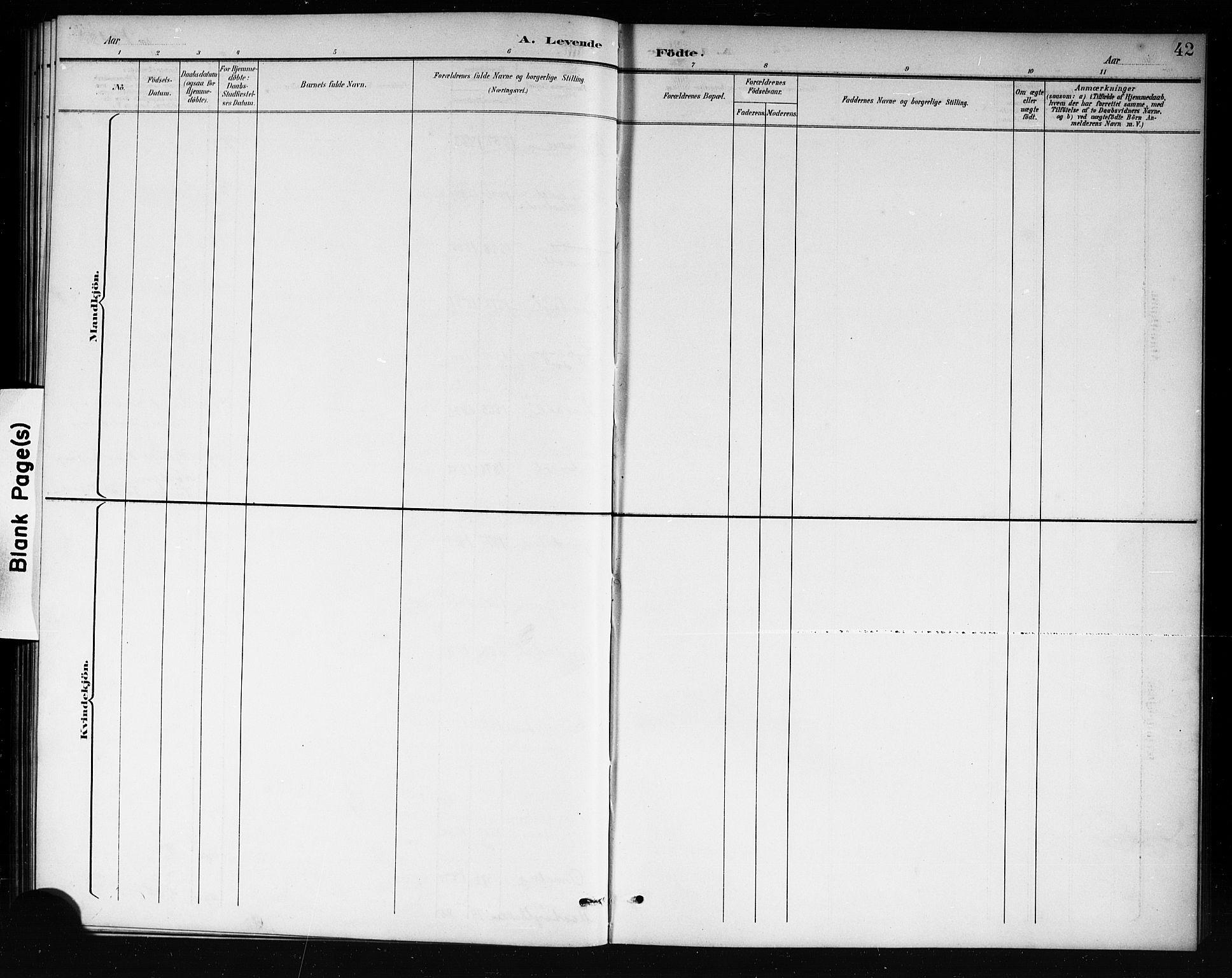 SAKO, Mo kirkebøker, G/Ga/L0002: Klokkerbok nr. I 2, 1892-1914, s. 42