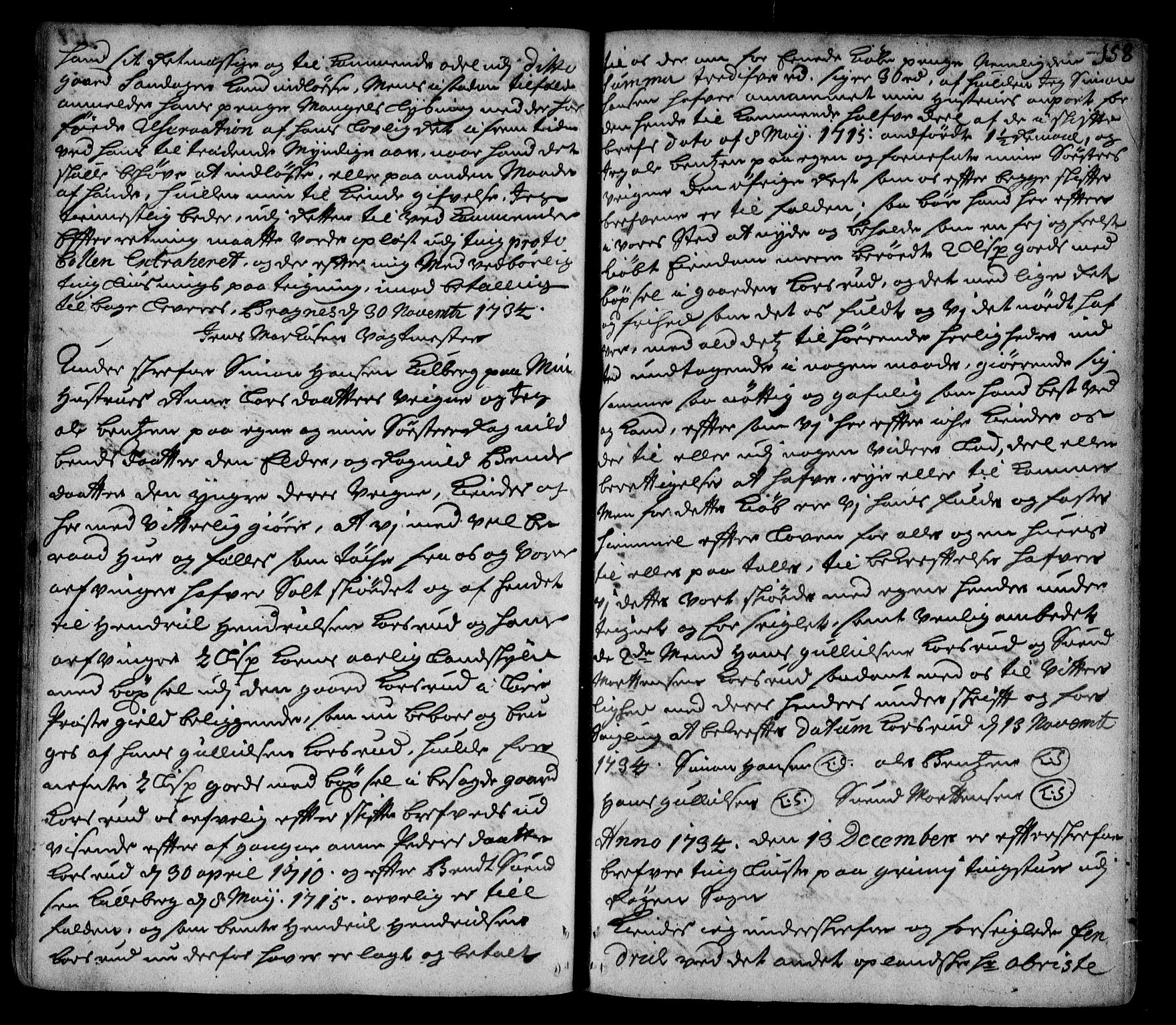 SAKO, Lier, Røyken og Hurum sorenskriveri, G/Ga/Gaa/L0002: Pantebok nr. II, 1725-1755, s. 158