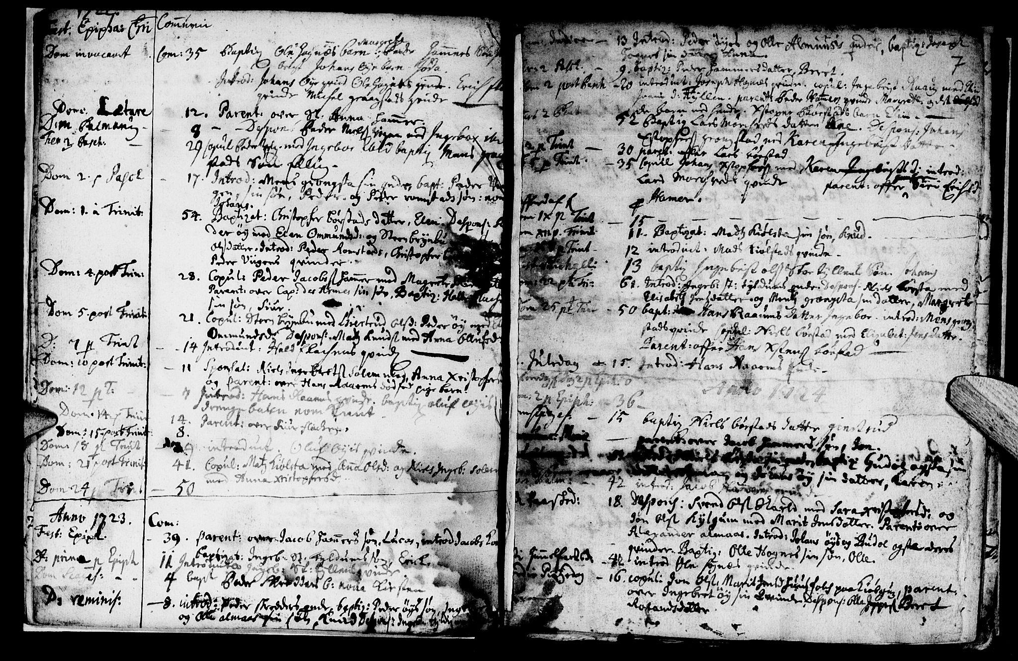 SAT, Ministerialprotokoller, klokkerbøker og fødselsregistre - Nord-Trøndelag, 765/L0560: Ministerialbok nr. 765A01, 1706-1748, s. 7