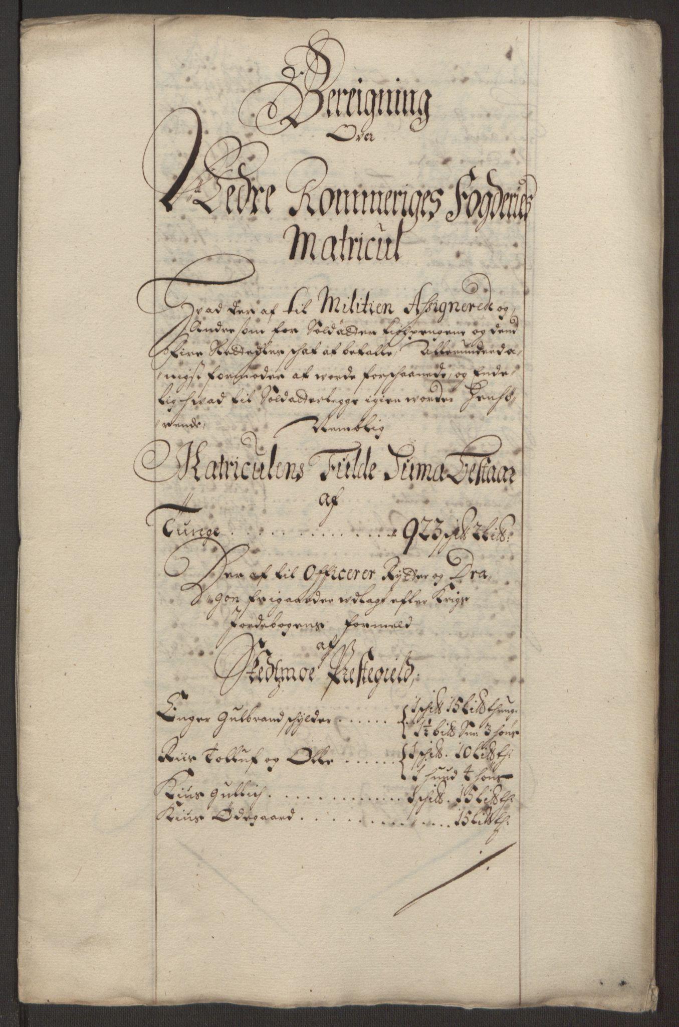 RA, Rentekammeret inntil 1814, Reviderte regnskaper, Fogderegnskap, R11/L0578: Fogderegnskap Nedre Romerike, 1693, s. 172