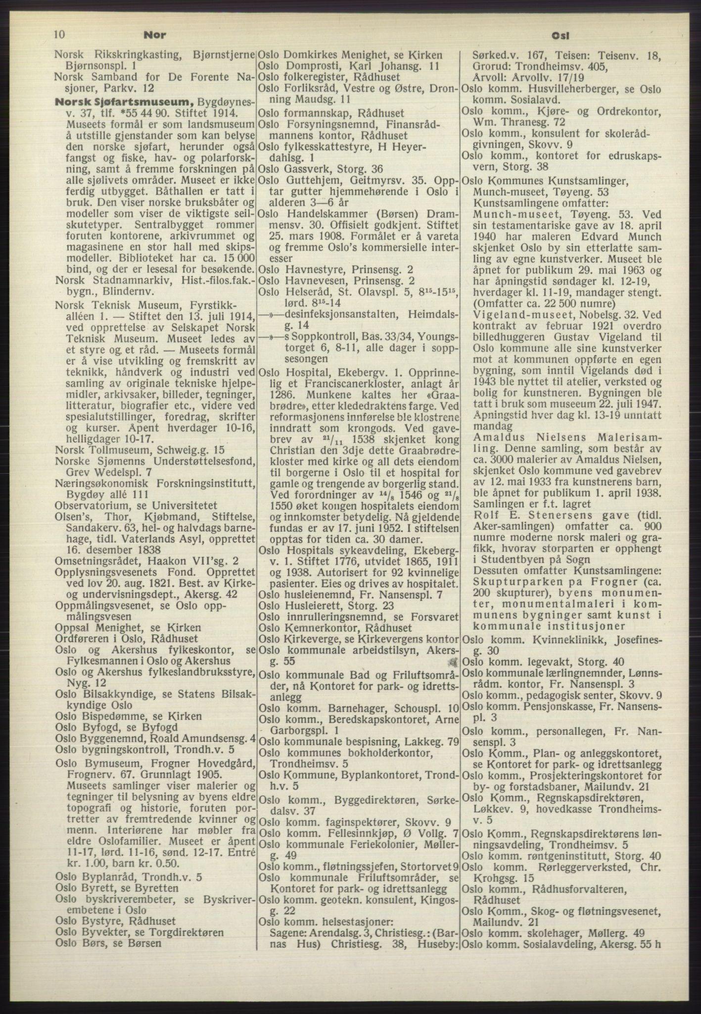 PUBL, Kristiania/Oslo adressebok, 1970-1971, s. 10