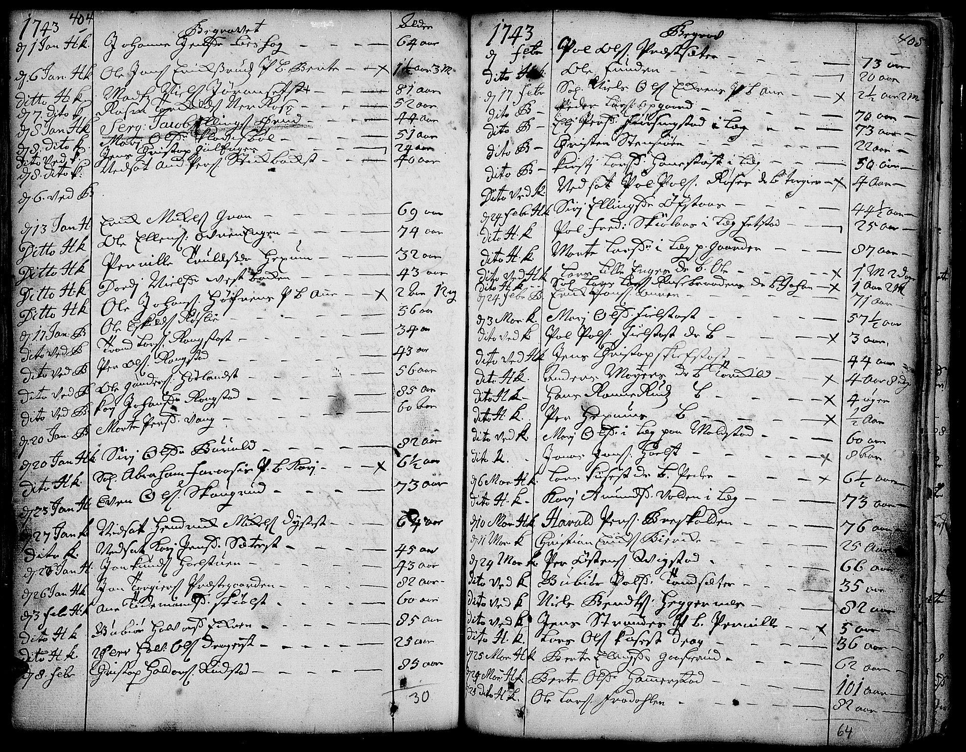 SAH, Toten prestekontor, Ministerialbok nr. 3, 1734-1751, s. 404-405