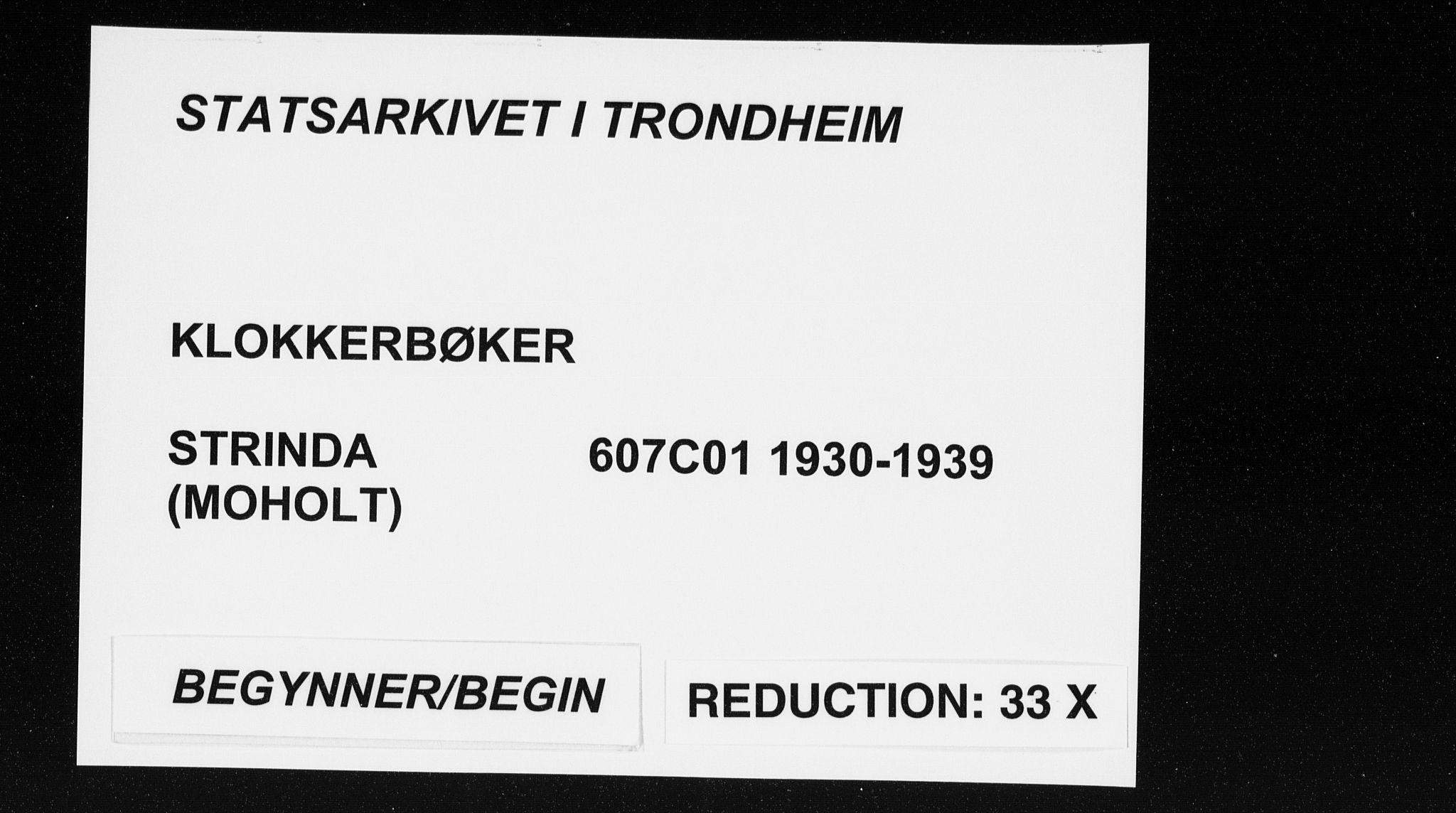 SAT, Ministerialprotokoller, klokkerbøker og fødselsregistre - Sør-Trøndelag, 607/L0327: Klokkerbok nr. 607C01, 1930-1939