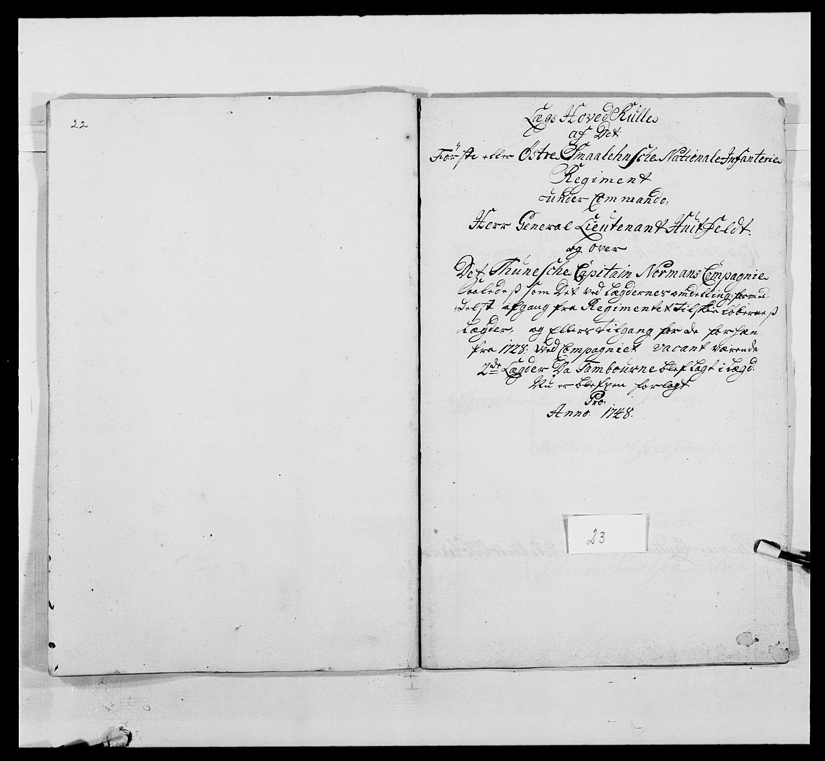 RA, Kommanderende general (KG I) med Det norske krigsdirektorium, E/Ea/L0495: 1. Smålenske regiment, 1732-1763, s. 327