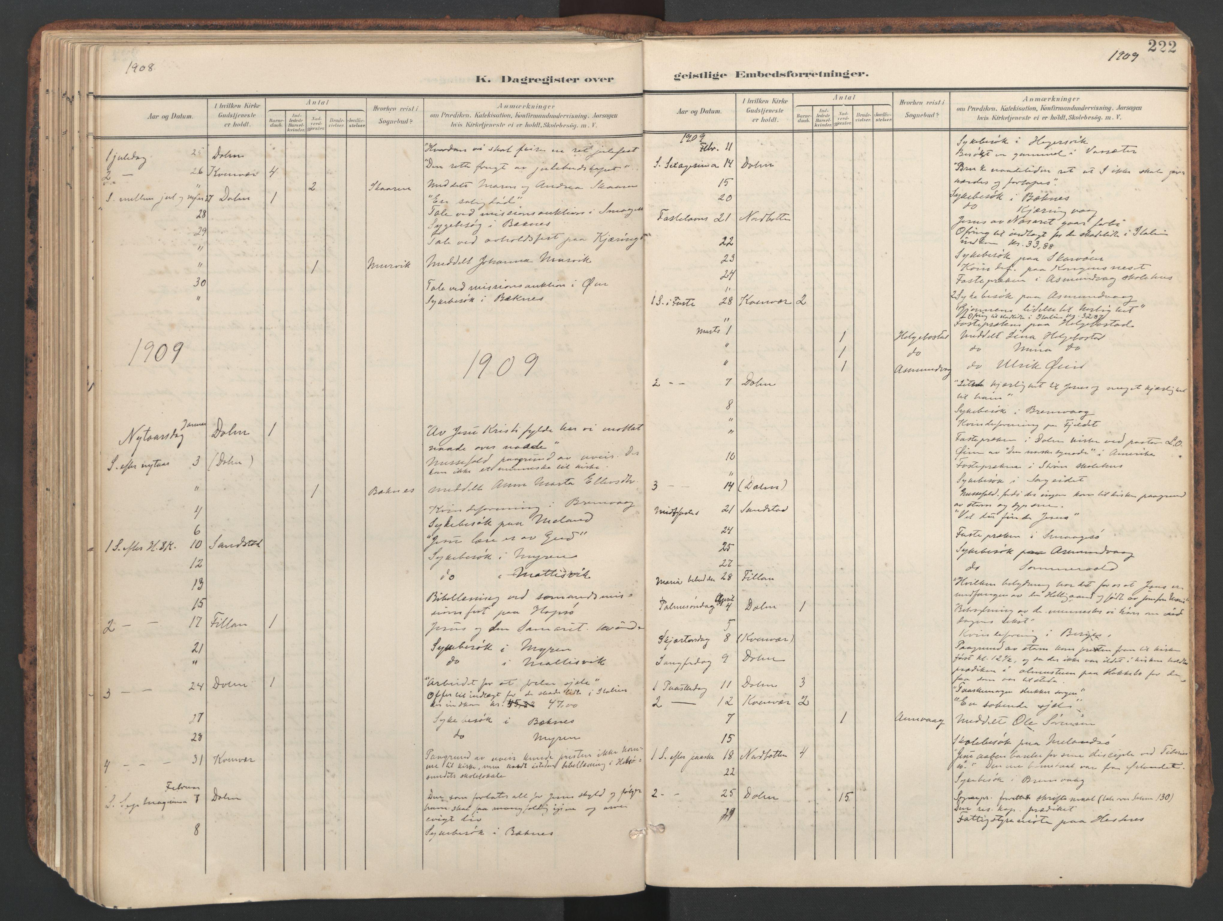SAT, Ministerialprotokoller, klokkerbøker og fødselsregistre - Sør-Trøndelag, 634/L0537: Ministerialbok nr. 634A13, 1896-1922, s. 222
