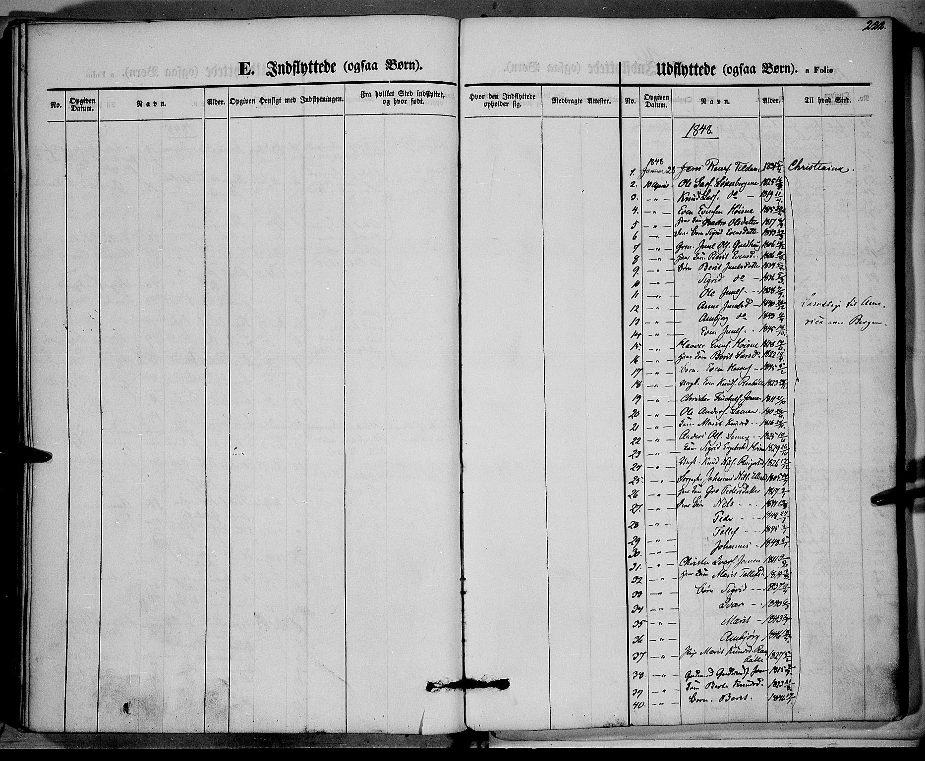 SAH, Vestre Slidre prestekontor, Ministerialbok nr. 1, 1844-1855, s. 222
