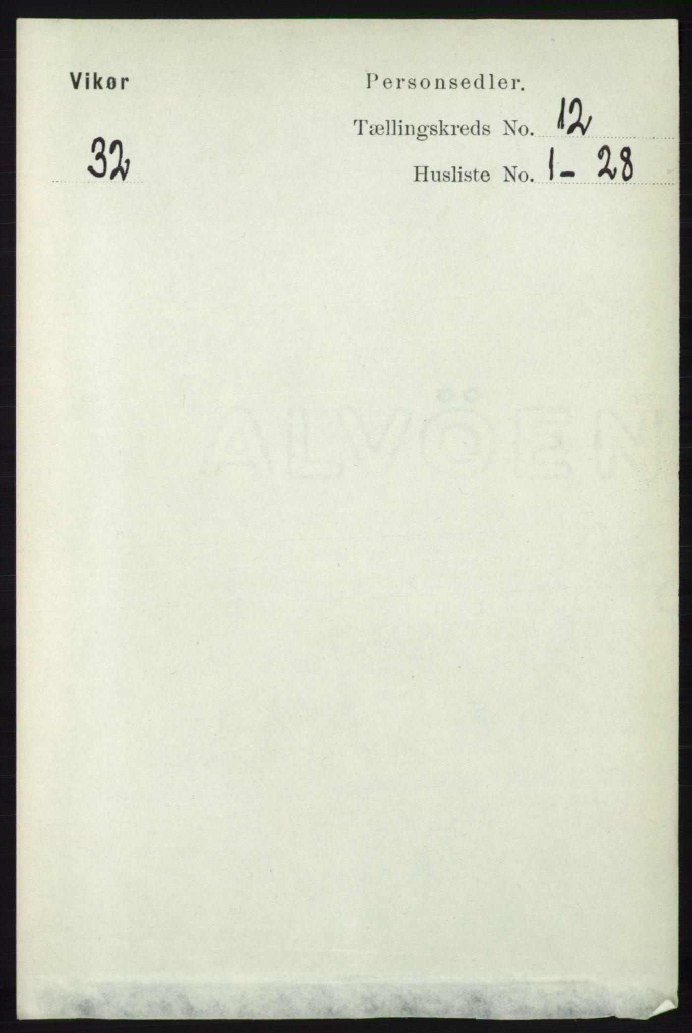 RA, Folketelling 1891 for 1238 Vikør herred, 1891, s. 3307