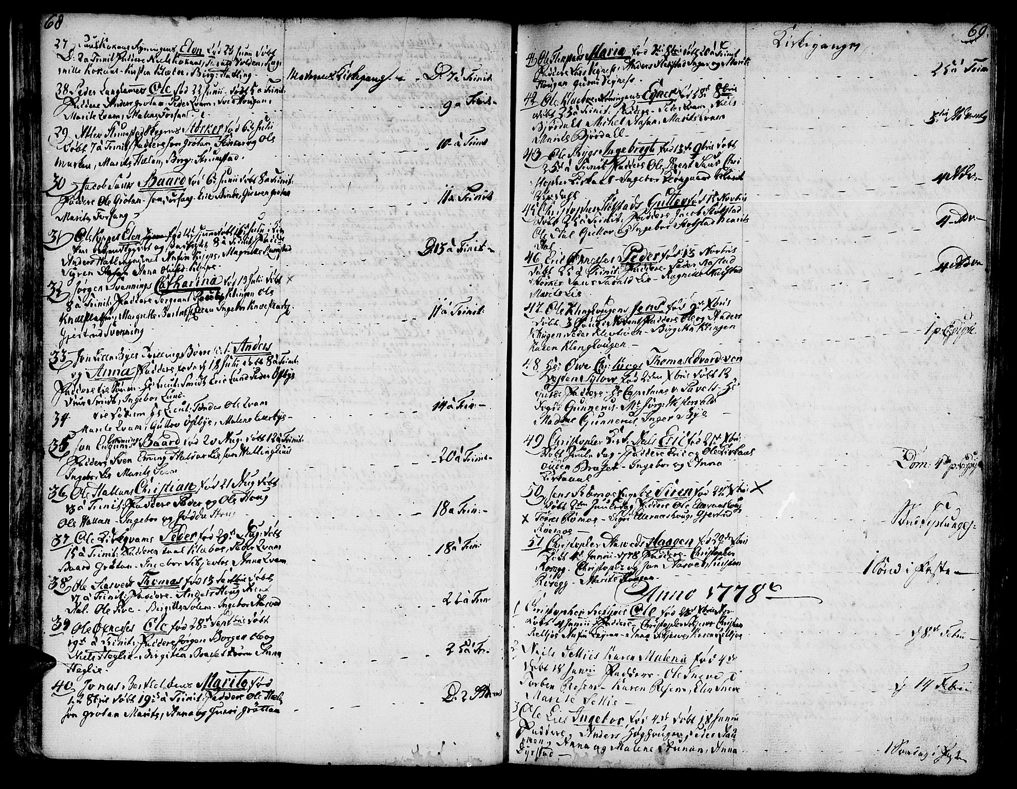 SAT, Ministerialprotokoller, klokkerbøker og fødselsregistre - Nord-Trøndelag, 746/L0440: Ministerialbok nr. 746A02, 1760-1815, s. 68-69