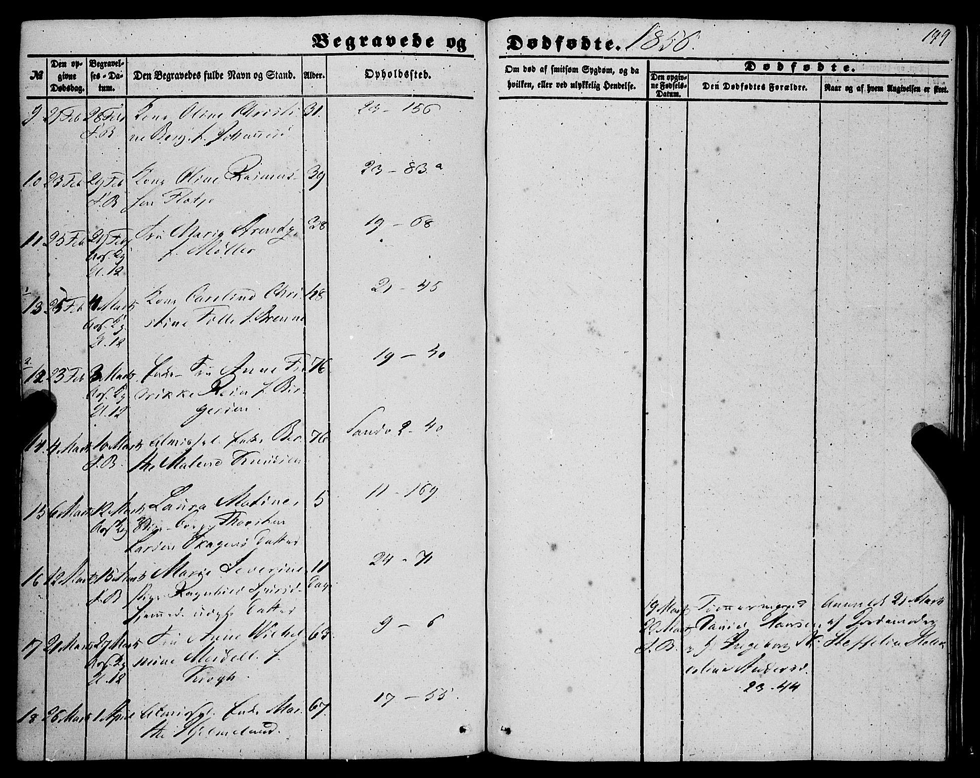 SAB, Korskirken Sokneprestembete, H/Haa: Ministerialbok nr. E 2, 1848-1862, s. 199