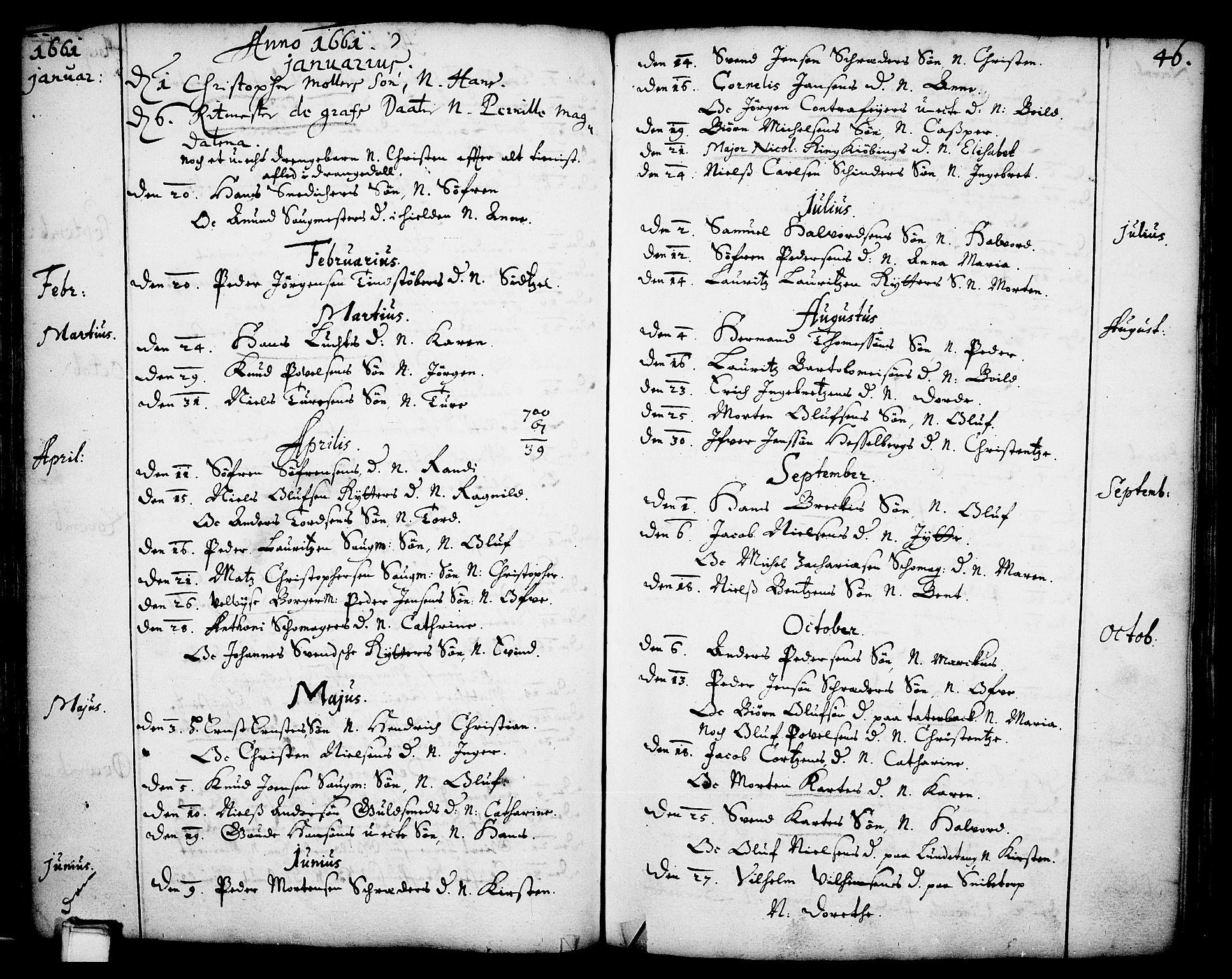 SAKO, Skien kirkebøker, F/Fa/L0001: Ministerialbok nr. 1, 1659-1679, s. 46