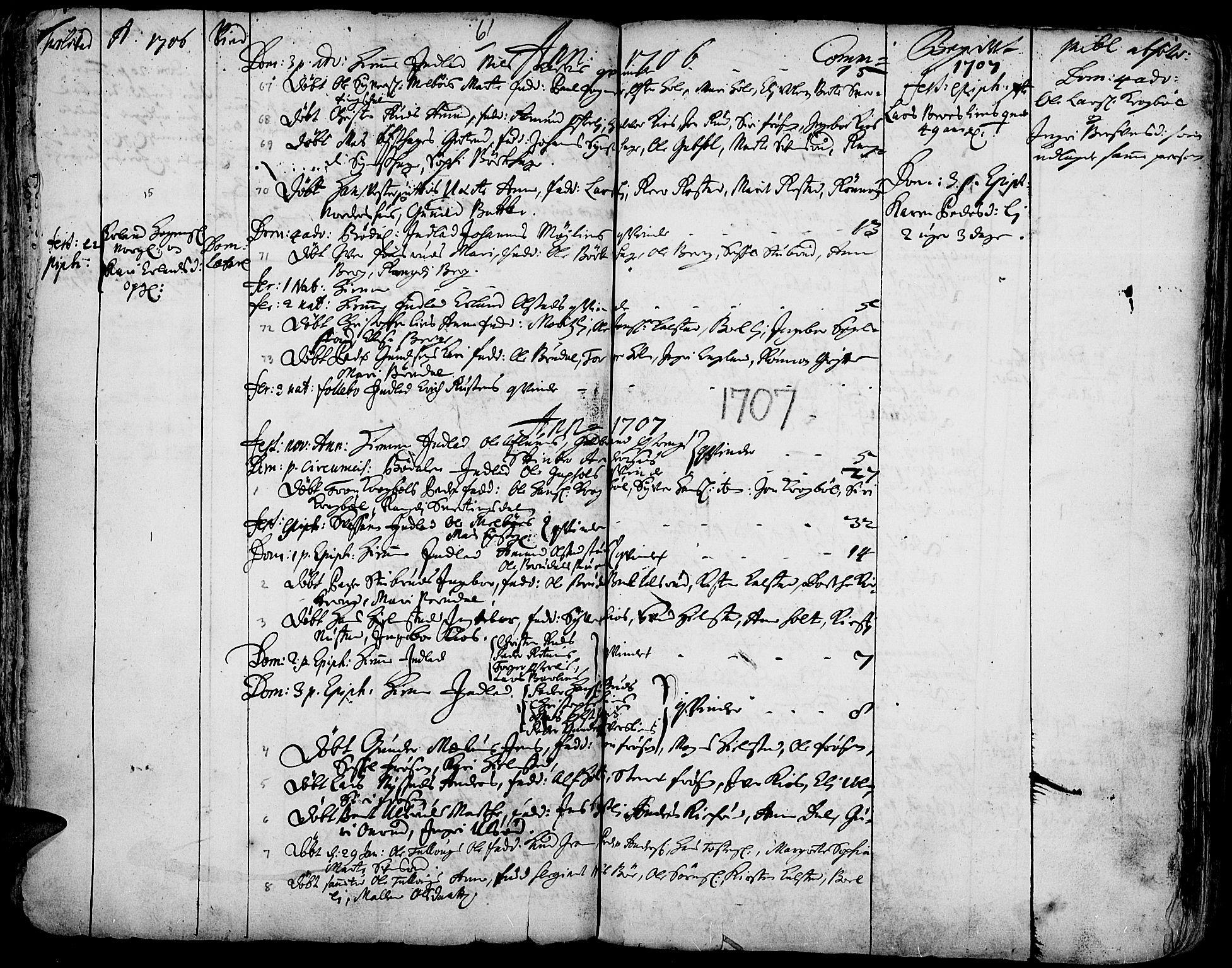 SAH, Gausdal prestekontor, Ministerialbok nr. 1, 1693-1728, s. 61
