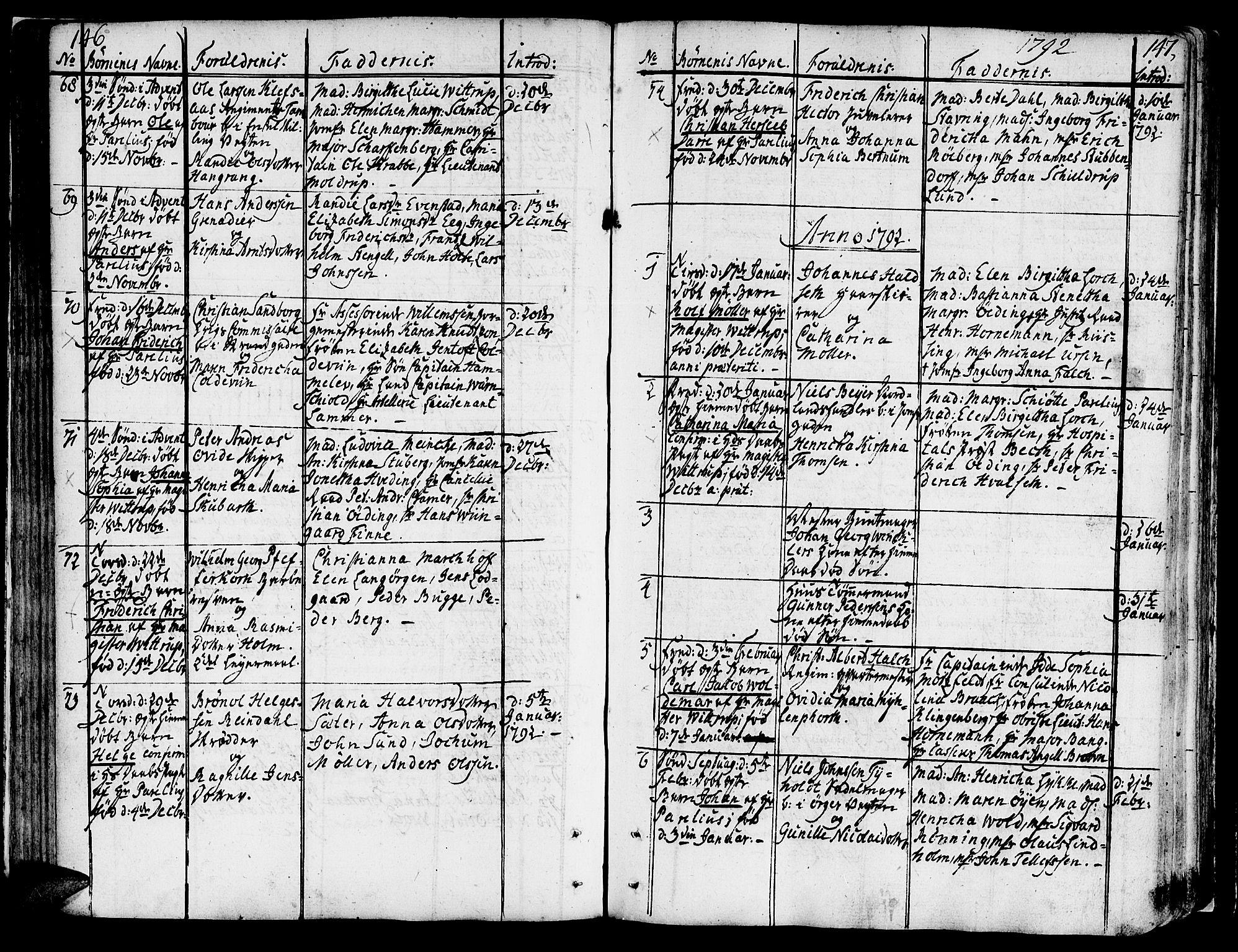 SAT, Ministerialprotokoller, klokkerbøker og fødselsregistre - Sør-Trøndelag, 602/L0104: Ministerialbok nr. 602A02, 1774-1814, s. 146-147