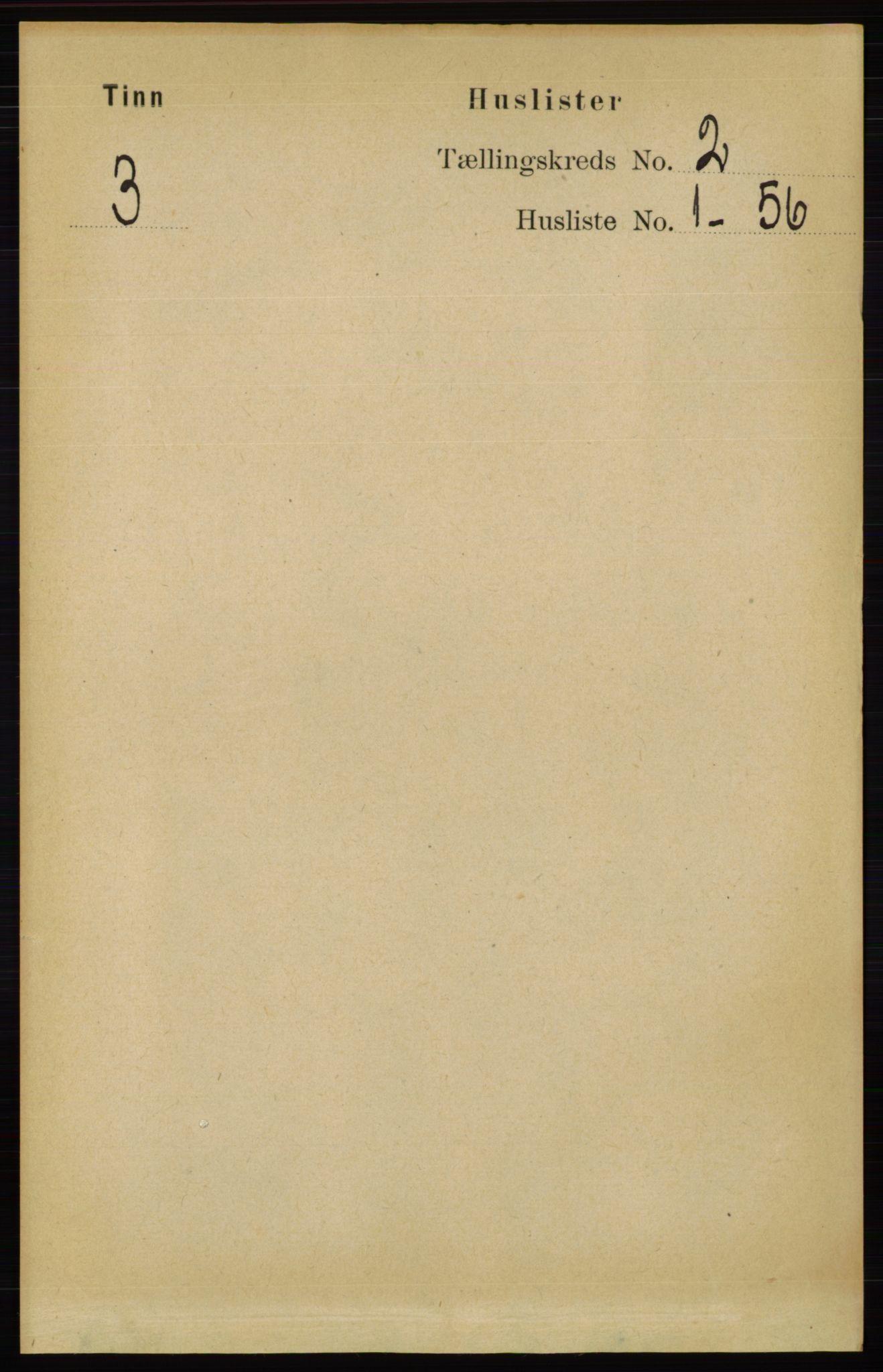 RA, Folketelling 1891 for 0826 Tinn herred, 1891, s. 89