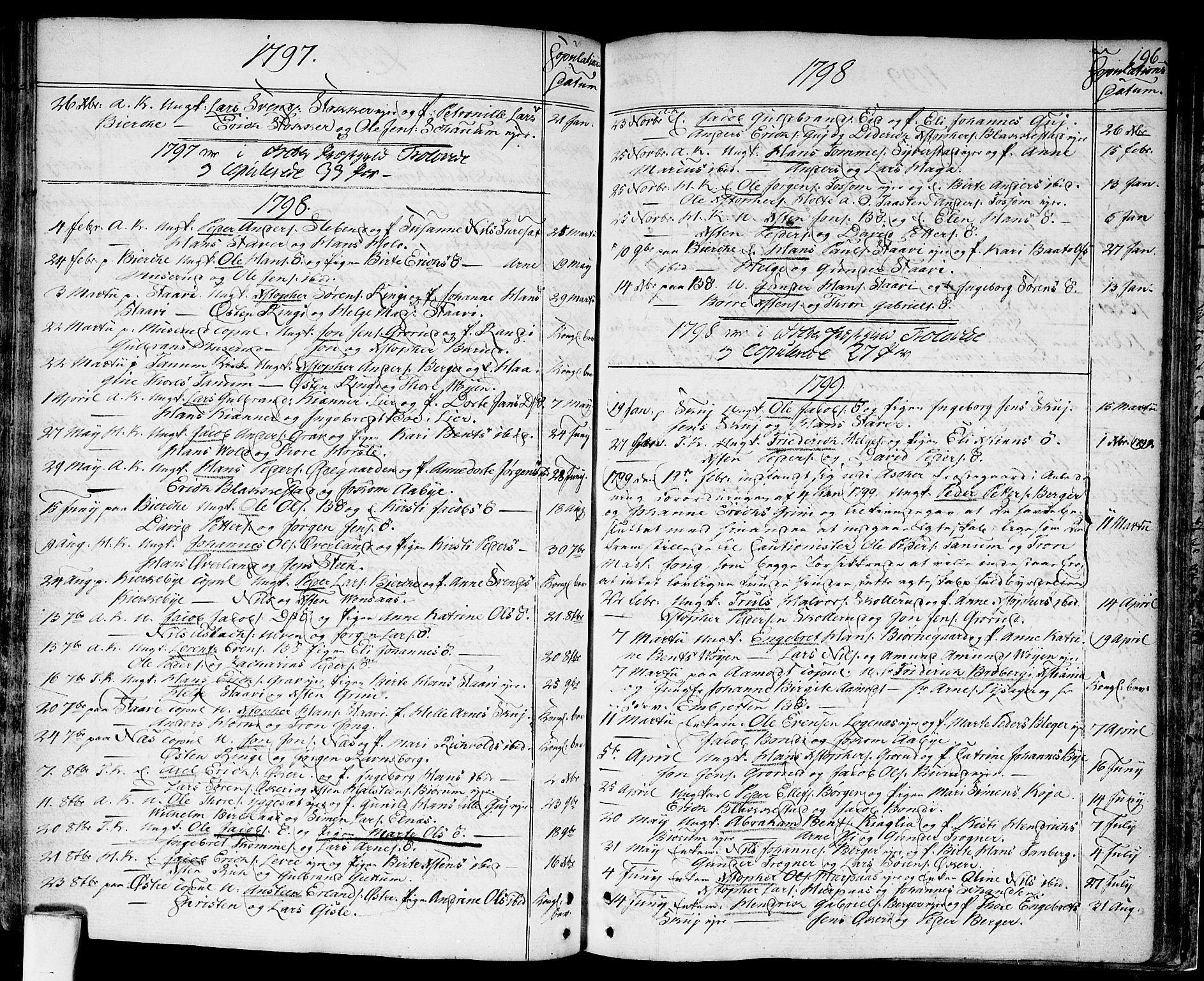 SAO, Asker prestekontor Kirkebøker, F/Fa/L0003: Ministerialbok nr. I 3, 1767-1807, s. 196