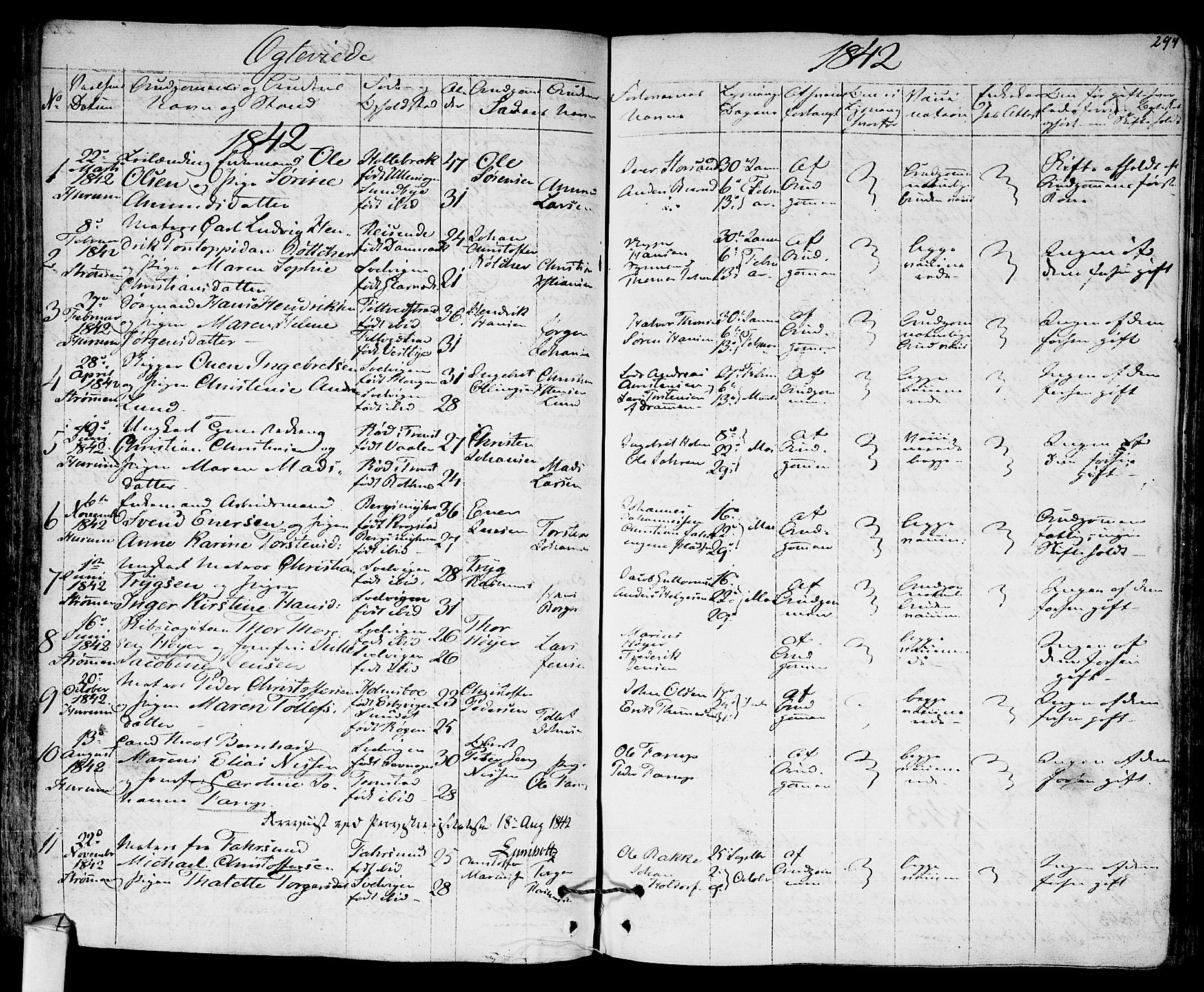 SAKO, Hurum kirkebøker, F/Fa/L0010: Ministerialbok nr. 10, 1827-1846, s. 294