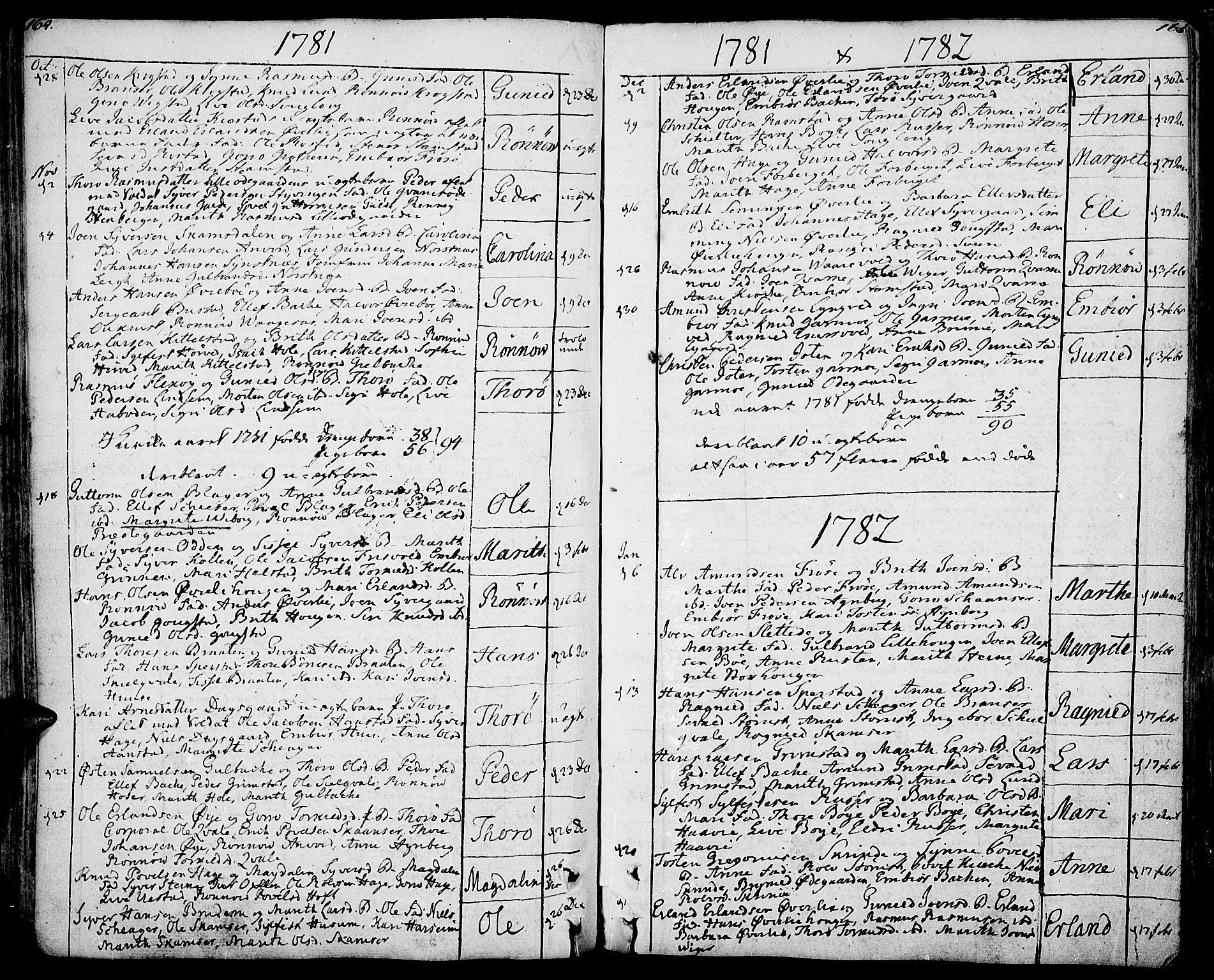 SAH, Lom prestekontor, K/L0002: Ministerialbok nr. 2, 1749-1801, s. 164-165