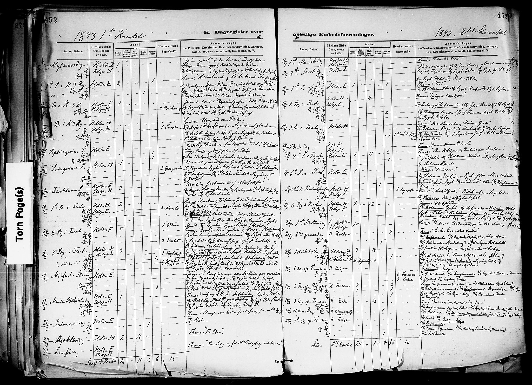 SAKO, Holla kirkebøker, F/Fa/L0008: Ministerialbok nr. 8, 1882-1897, s. 452