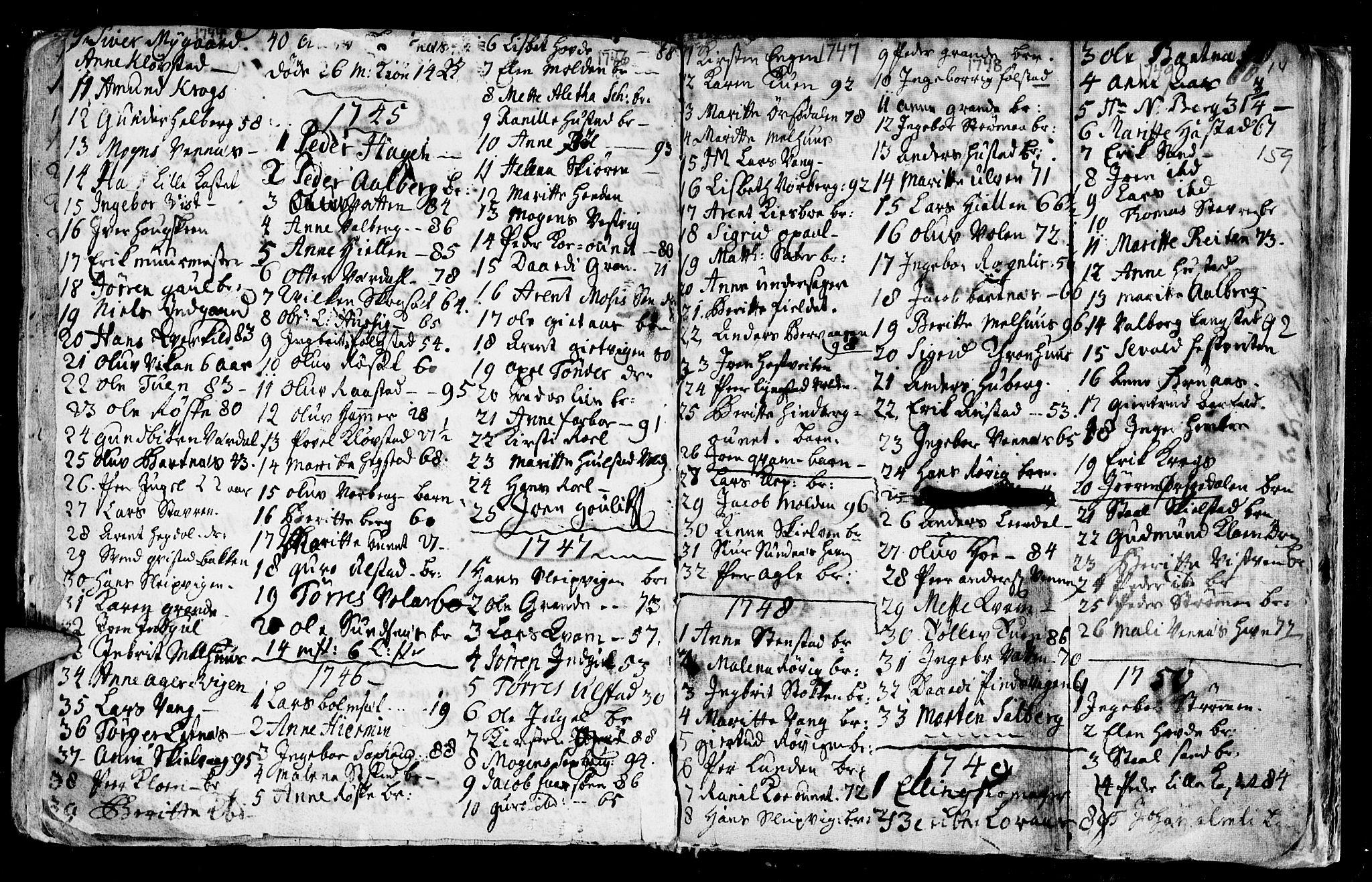 SAT, Ministerialprotokoller, klokkerbøker og fødselsregistre - Nord-Trøndelag, 730/L0272: Ministerialbok nr. 730A01, 1733-1764, s. 159