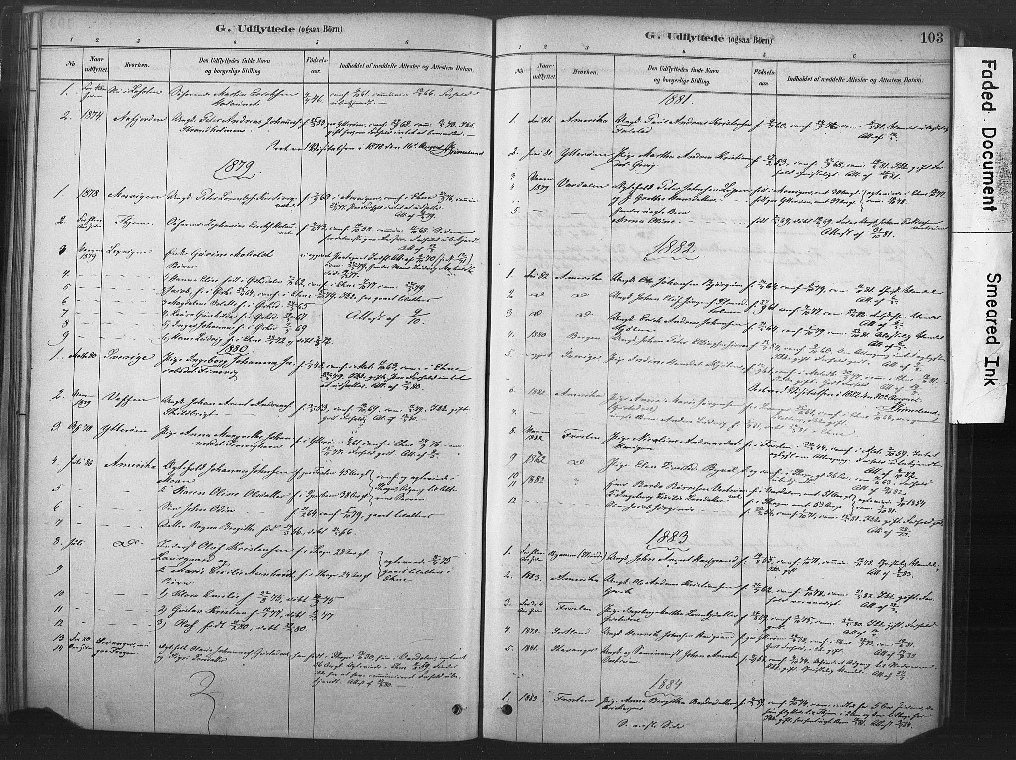 SAT, Ministerialprotokoller, klokkerbøker og fødselsregistre - Nord-Trøndelag, 719/L0178: Ministerialbok nr. 719A01, 1878-1900, s. 103