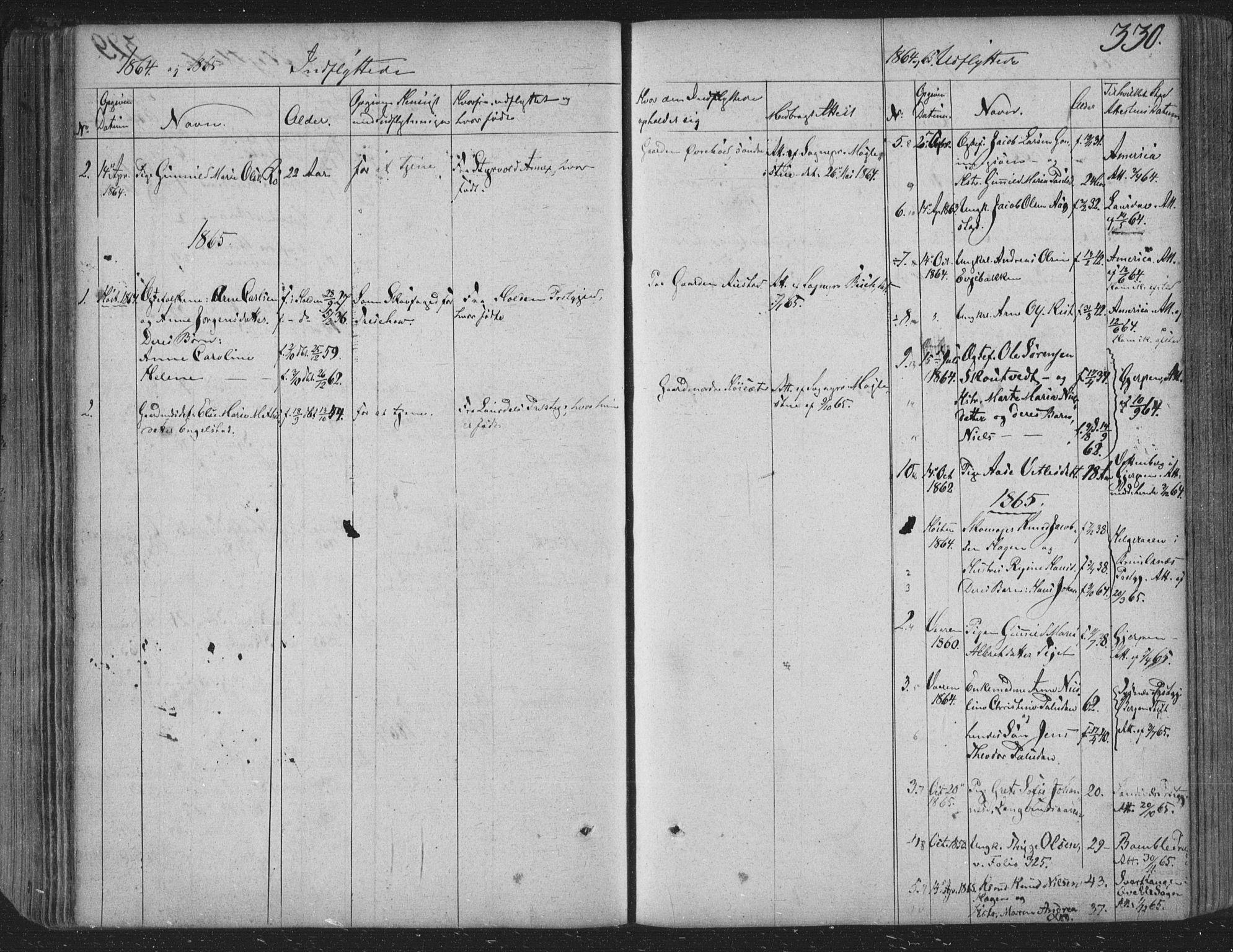 SAKO, Siljan kirkebøker, F/Fa/L0001: Ministerialbok nr. 1, 1831-1870, s. 330