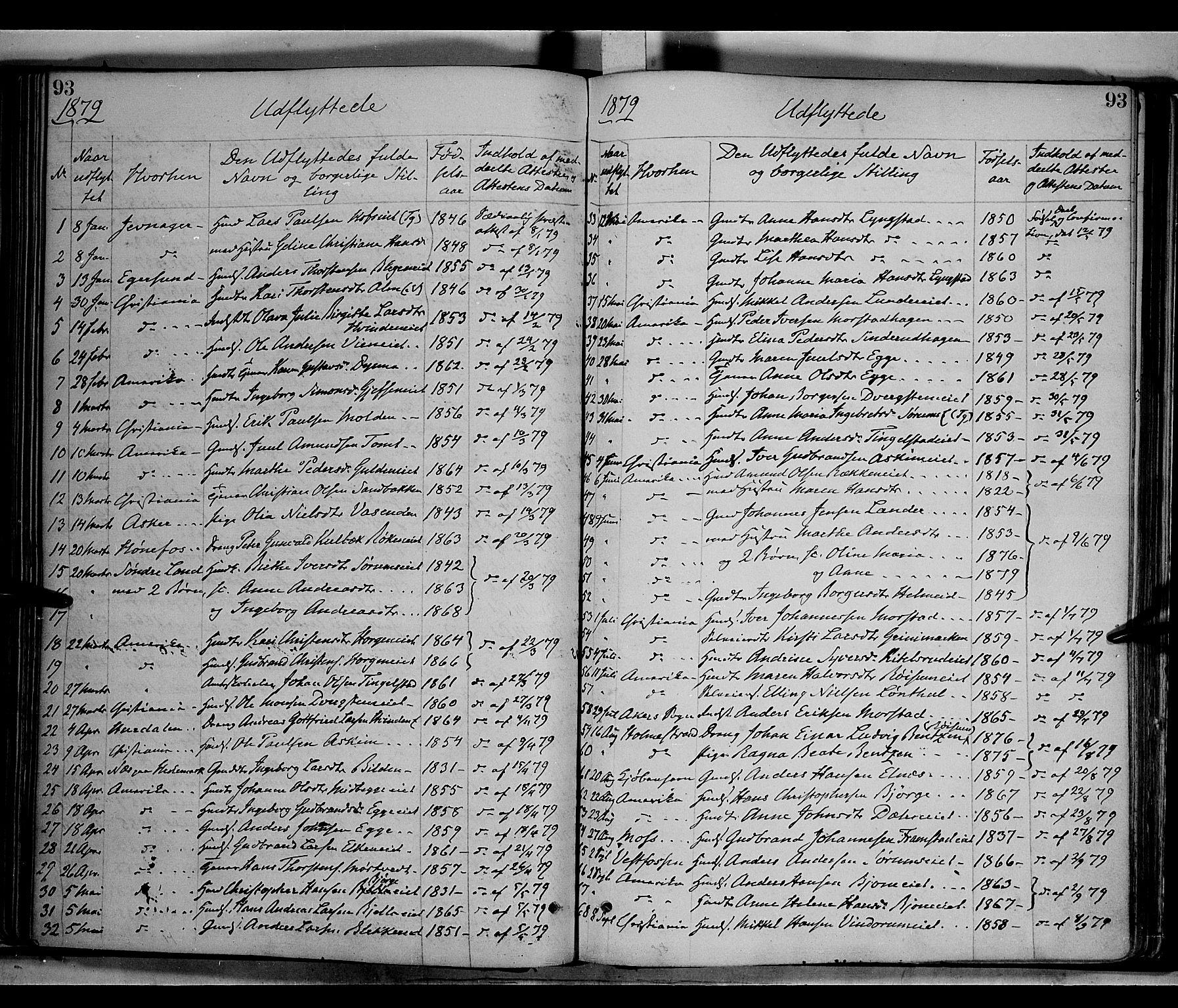 SAH, Gran prestekontor, Ministerialbok nr. 13, 1875-1879, s. 93