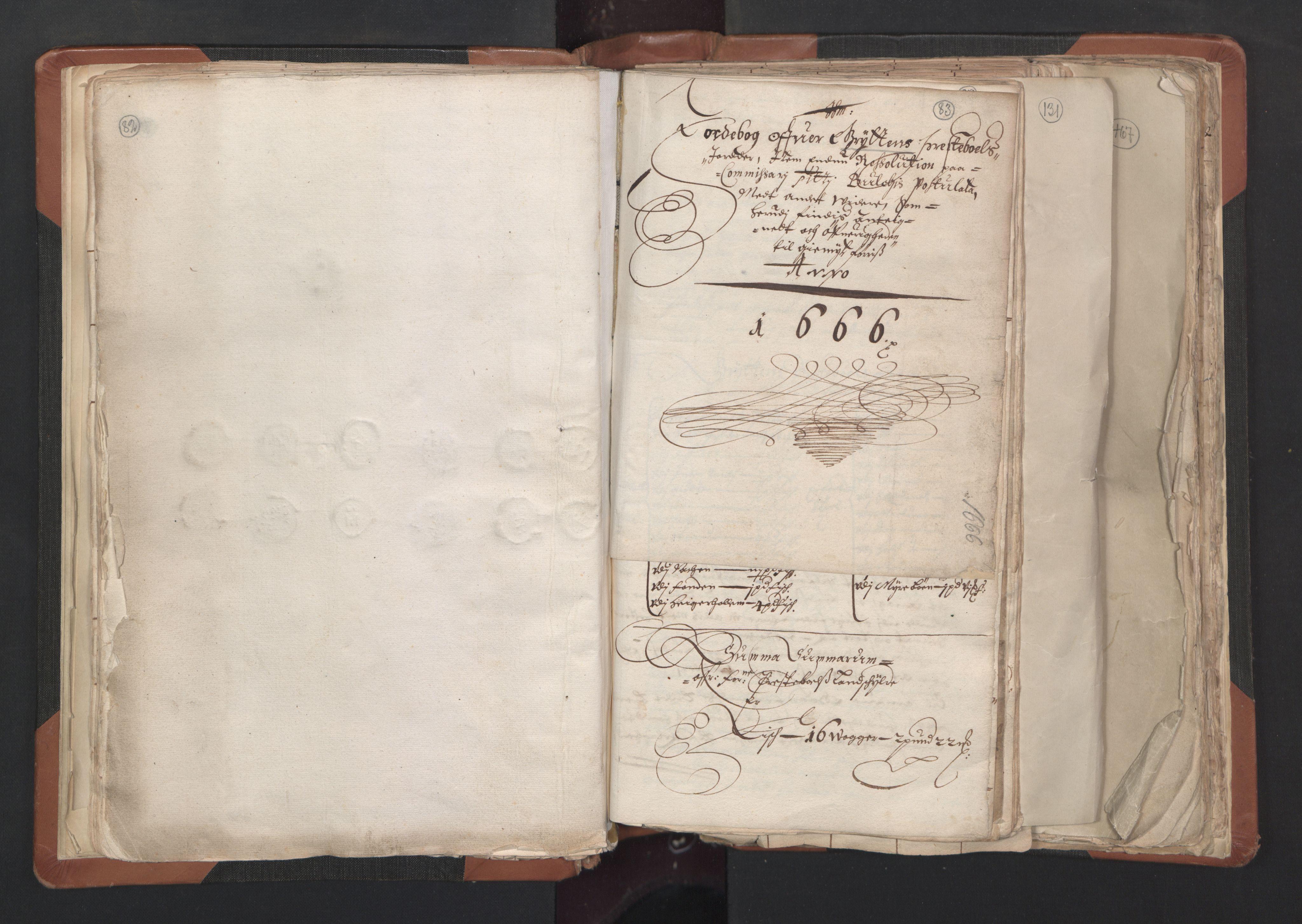 RA, Sogneprestenes manntall 1664-1666, nr. 27: Romsdal prosti, 1664-1666, s. 82-83