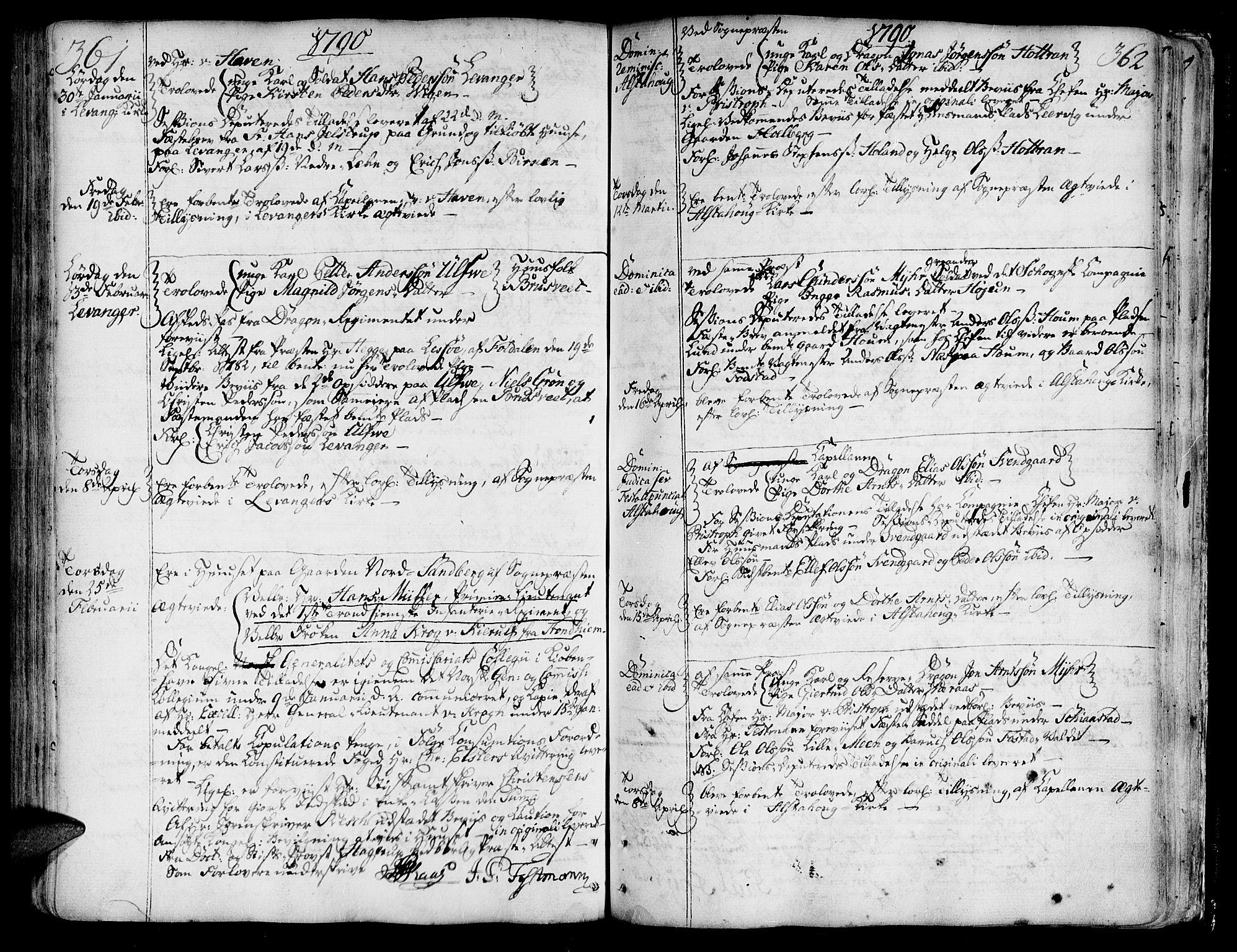SAT, Ministerialprotokoller, klokkerbøker og fødselsregistre - Nord-Trøndelag, 717/L0141: Ministerialbok nr. 717A01, 1747-1803, s. 361-362
