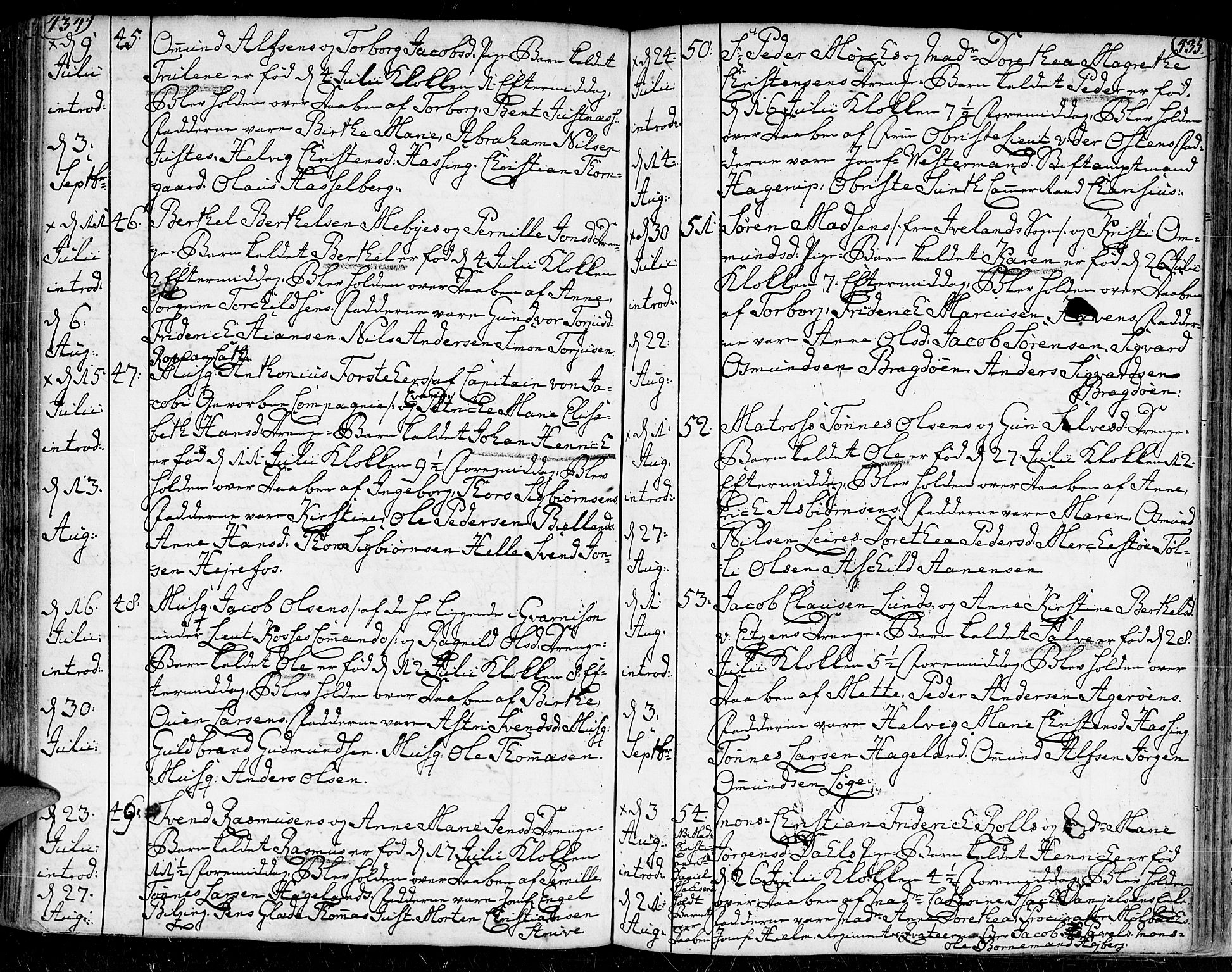 SAK, Kristiansand domprosti, F/Fa/L0002: Ministerialbok nr. A 2, 1755-1778, s. 434-435