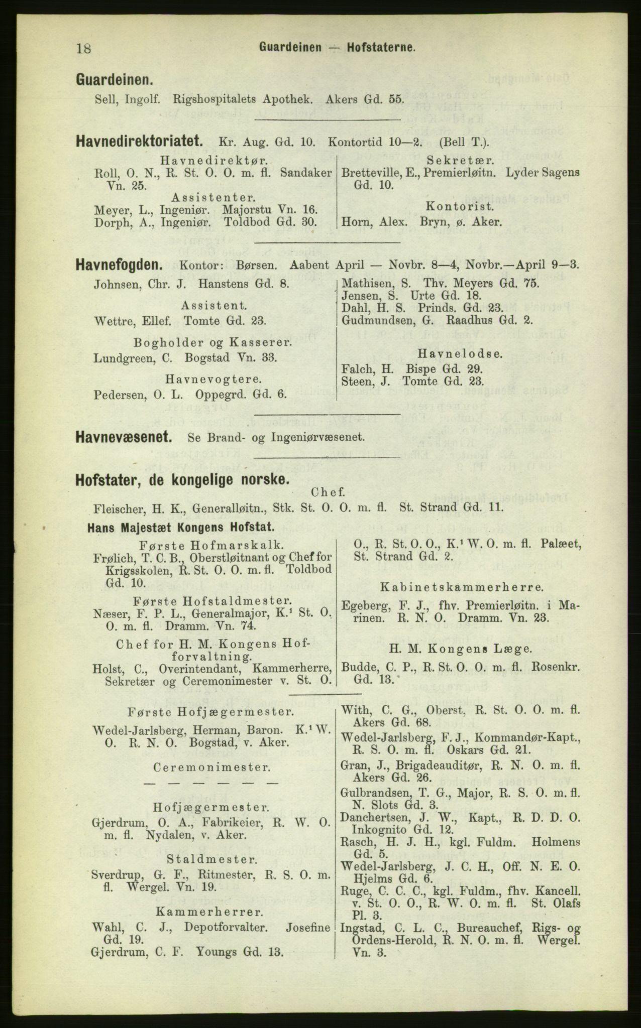 PUBL, Kristiania/Oslo adressebok, 1883, s. 18