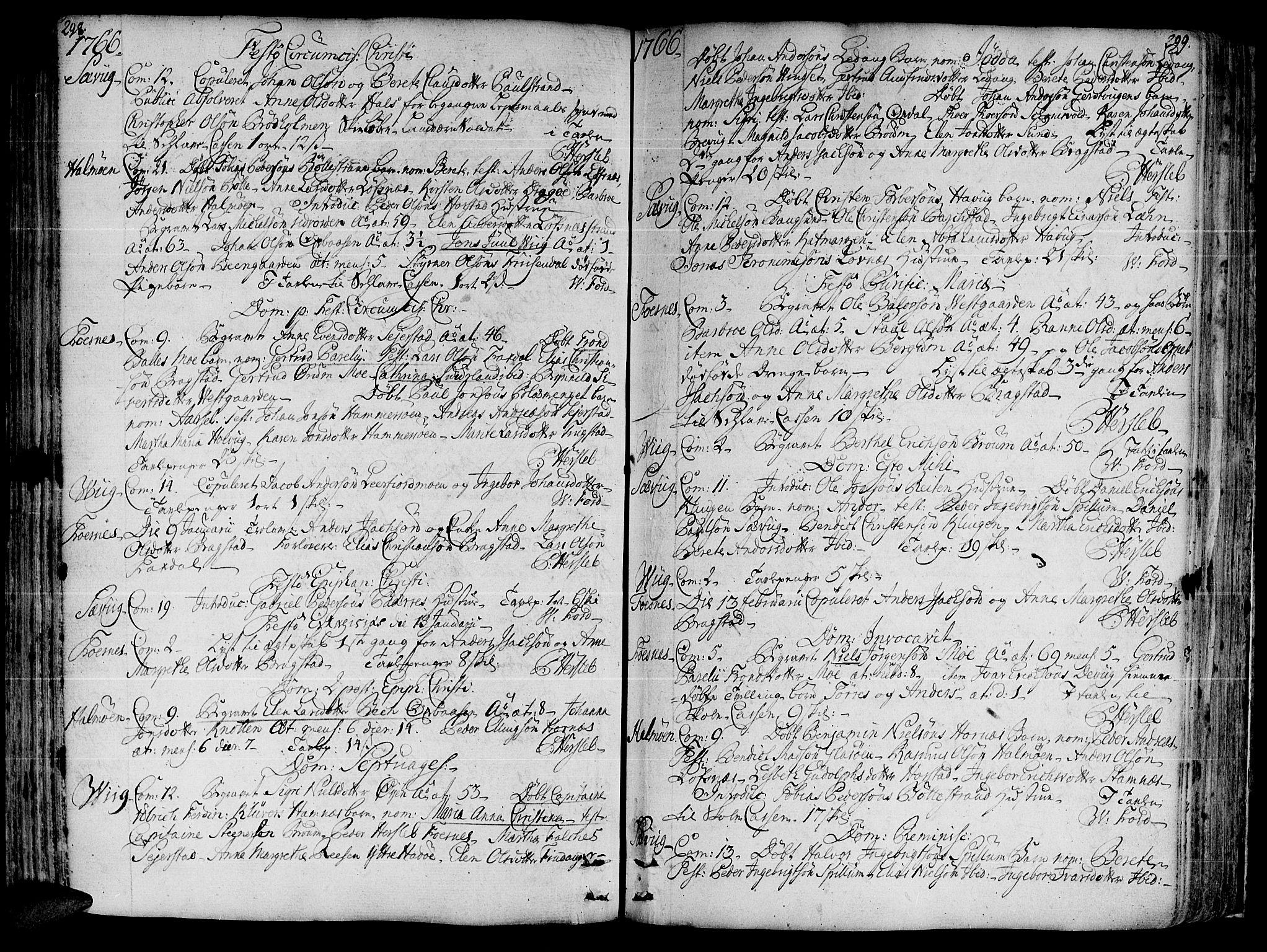 SAT, Ministerialprotokoller, klokkerbøker og fødselsregistre - Nord-Trøndelag, 773/L0607: Ministerialbok nr. 773A01, 1751-1783, s. 298-299