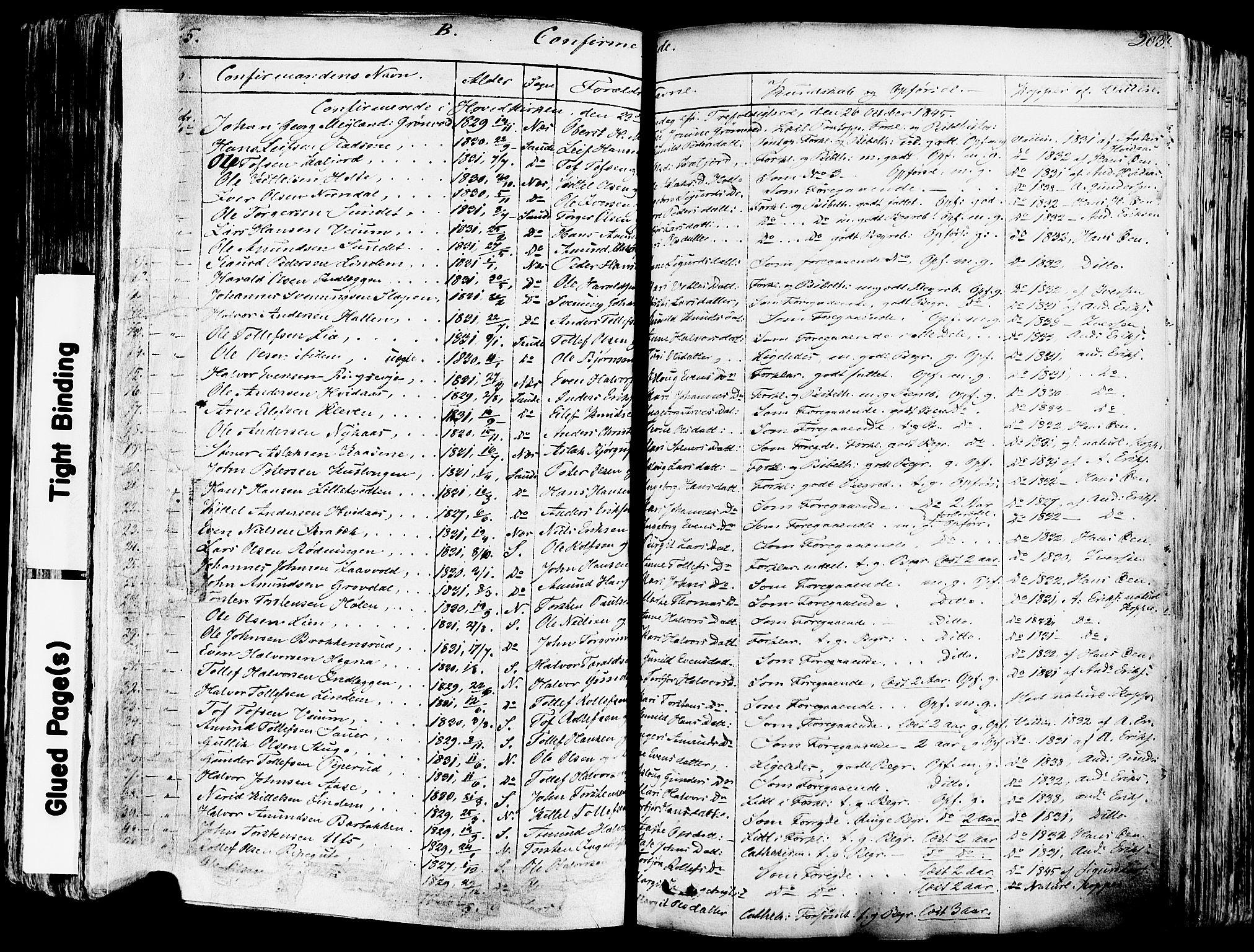 SAKO, Sauherad kirkebøker, F/Fa/L0006: Ministerialbok nr. I 6, 1827-1850, s. 203
