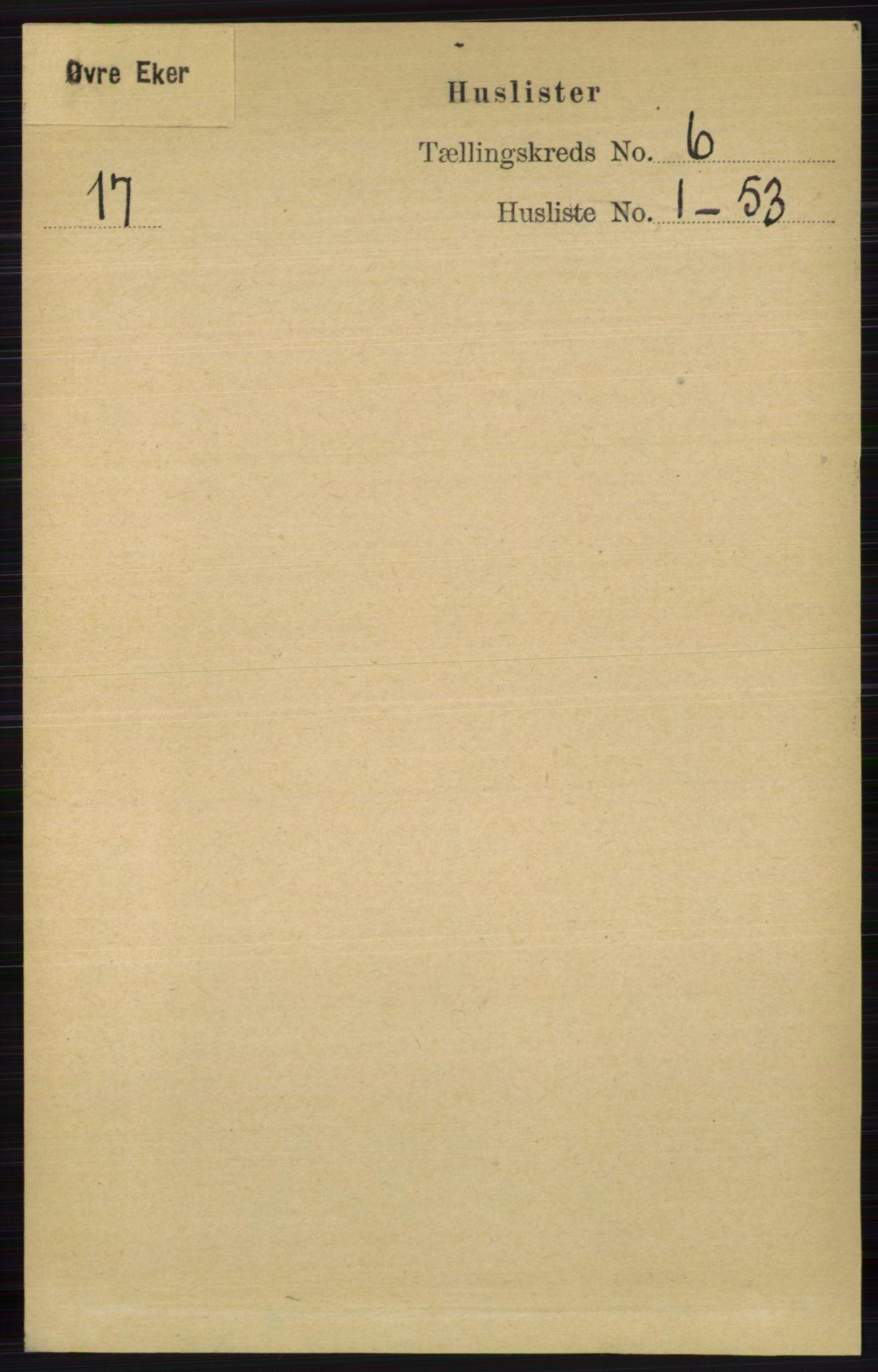 RA, Folketelling 1891 for 0624 Øvre Eiker herred, 1891, s. 2181