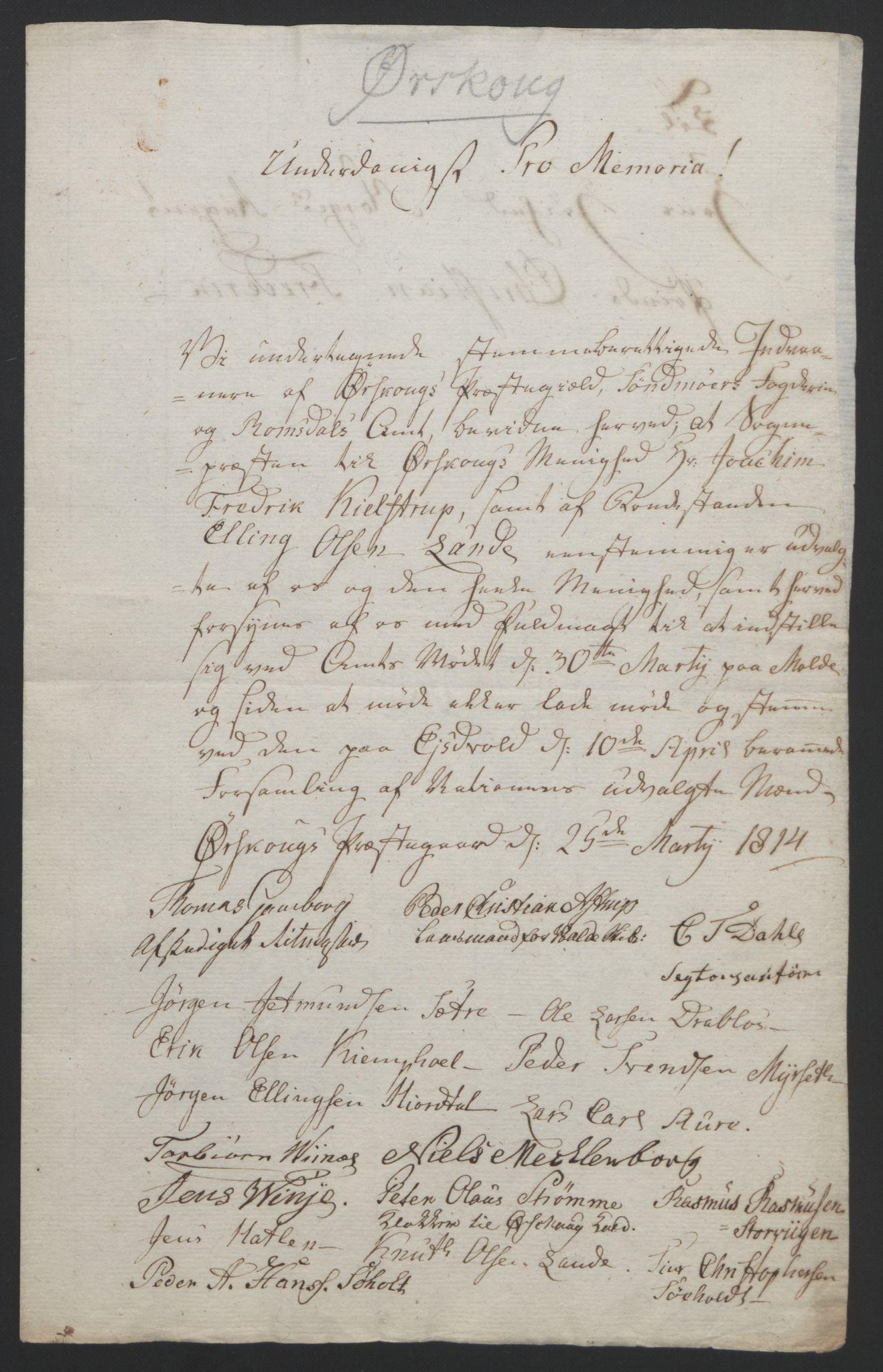 RA, Statsrådssekretariatet, D/Db/L0008: Fullmakter for Eidsvollsrepresentantene i 1814. , 1814, s. 423