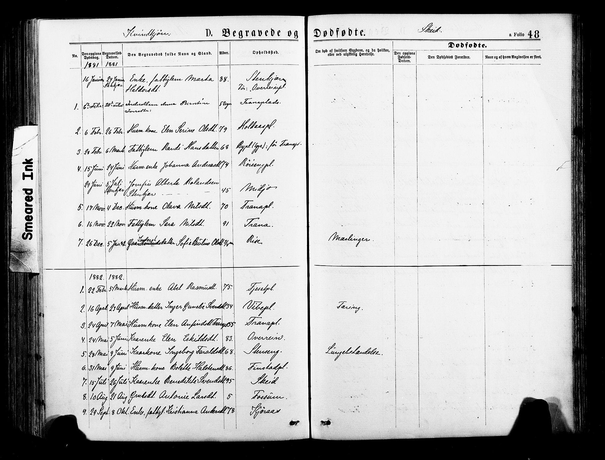 SAT, Ministerialprotokoller, klokkerbøker og fødselsregistre - Nord-Trøndelag, 735/L0348: Ministerialbok nr. 735A09 /2, 1873-1883, s. 48