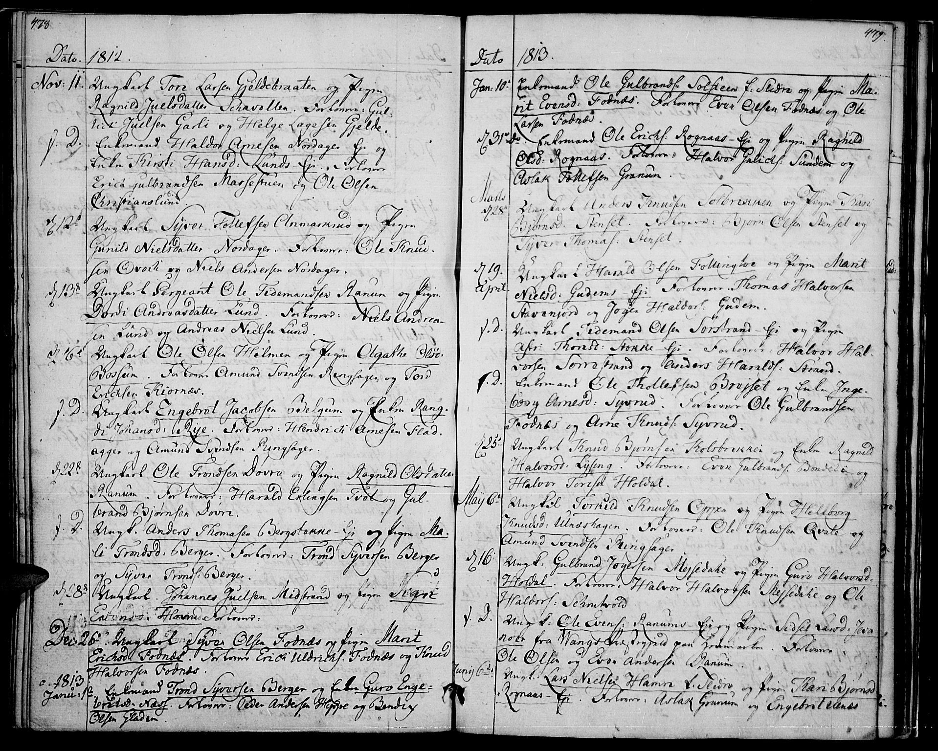 SAH, Nord-Aurdal prestekontor, Ministerialbok nr. 1, 1808-1815, s. 478-479