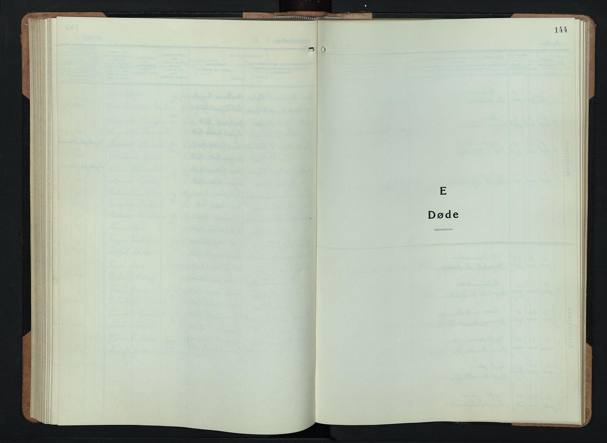 SAH, Skjåk prestekontor, Klokkerbok nr. 6, 1933-1954, s. 144