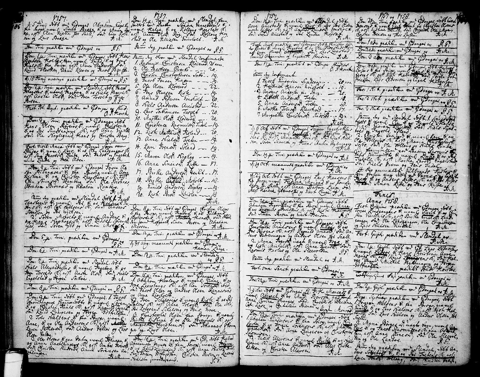 SAKO, Eidanger kirkebøker, F/Fa/L0004: Ministerialbok nr. 4, 1733-1759, s. 186-187