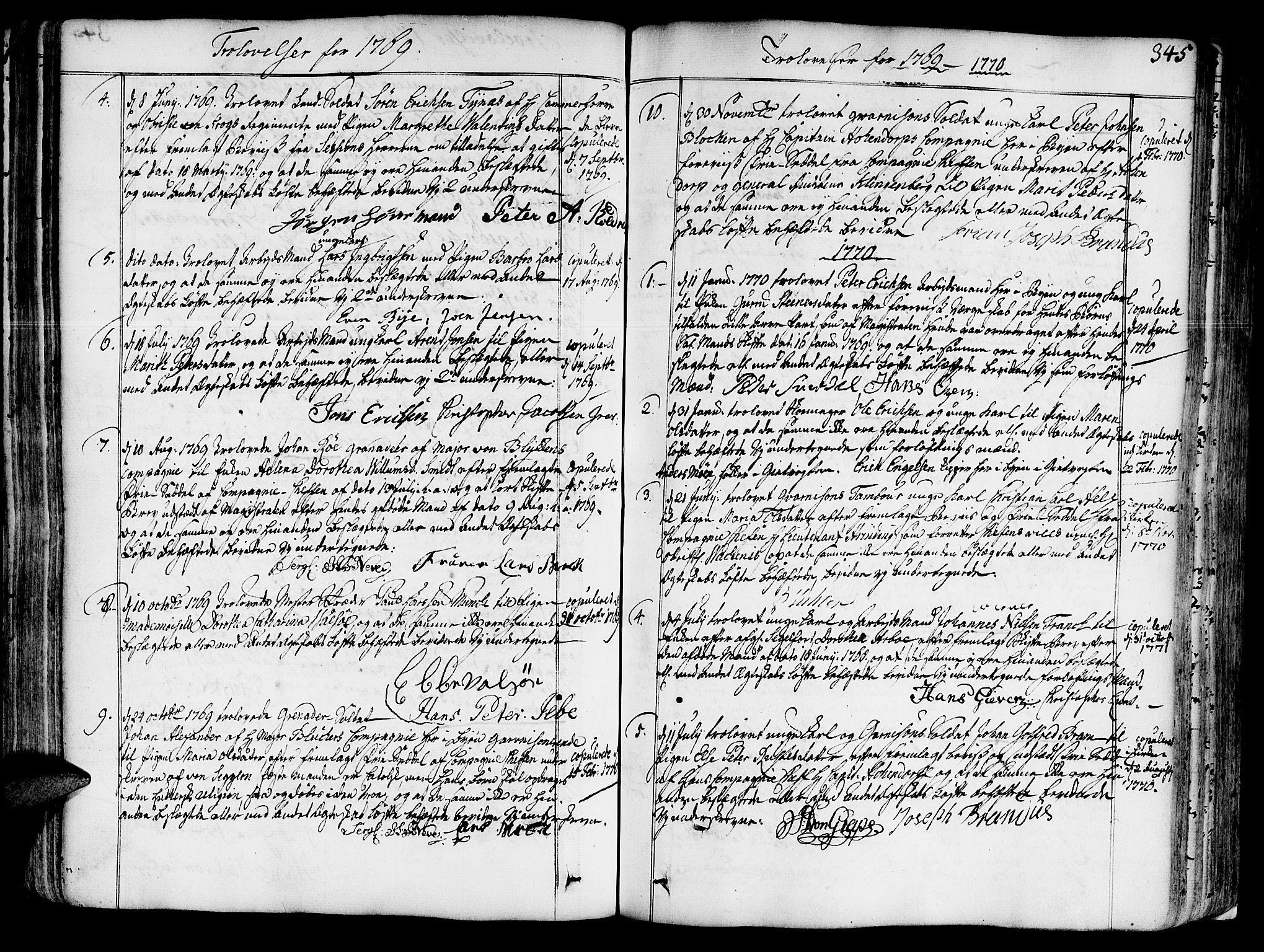 SAT, Ministerialprotokoller, klokkerbøker og fødselsregistre - Sør-Trøndelag, 602/L0103: Ministerialbok nr. 602A01, 1732-1774, s. 345