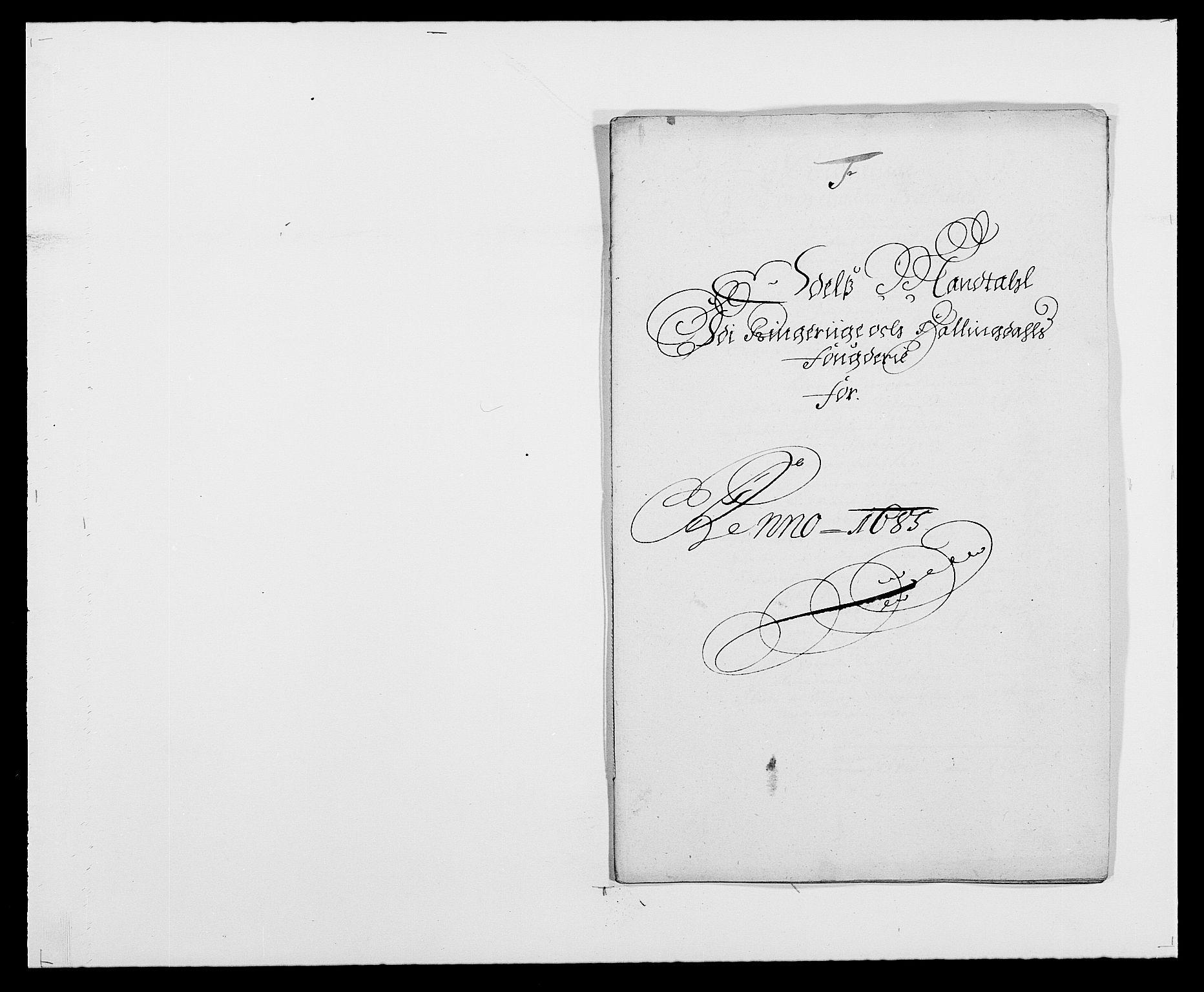 RA, Rentekammeret inntil 1814, Reviderte regnskaper, Fogderegnskap, R21/L1446: Fogderegnskap Ringerike og Hallingdal, 1683-1686, s. 336