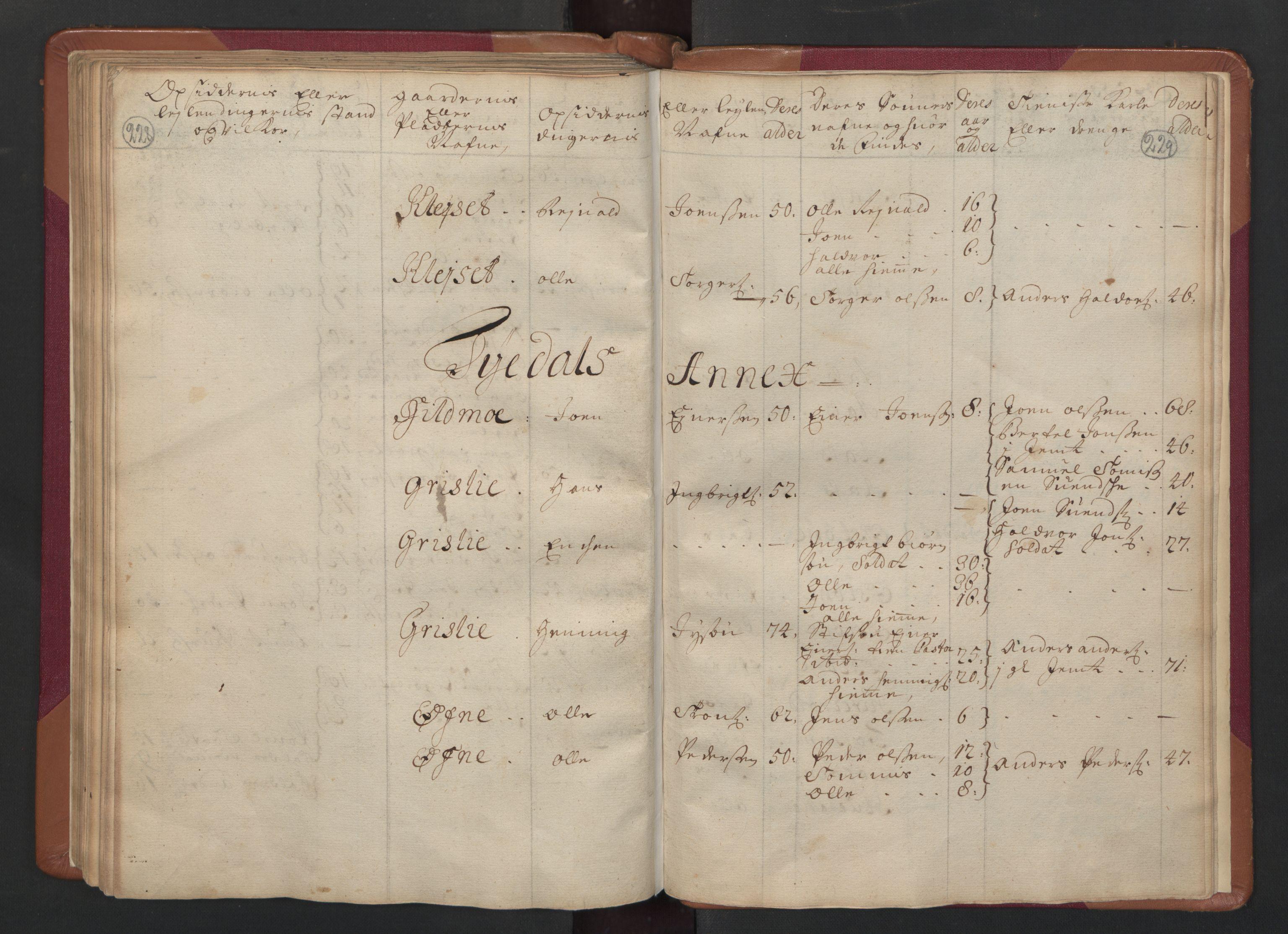 RA, Manntallet 1701, nr. 14: Strinda og Selbu fogderi, 1701, s. 228-229