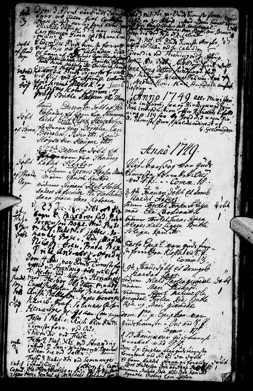 SAB, Os sokneprestembete*, Ministerialbok nr. A 2, 1723-1758, s. 85