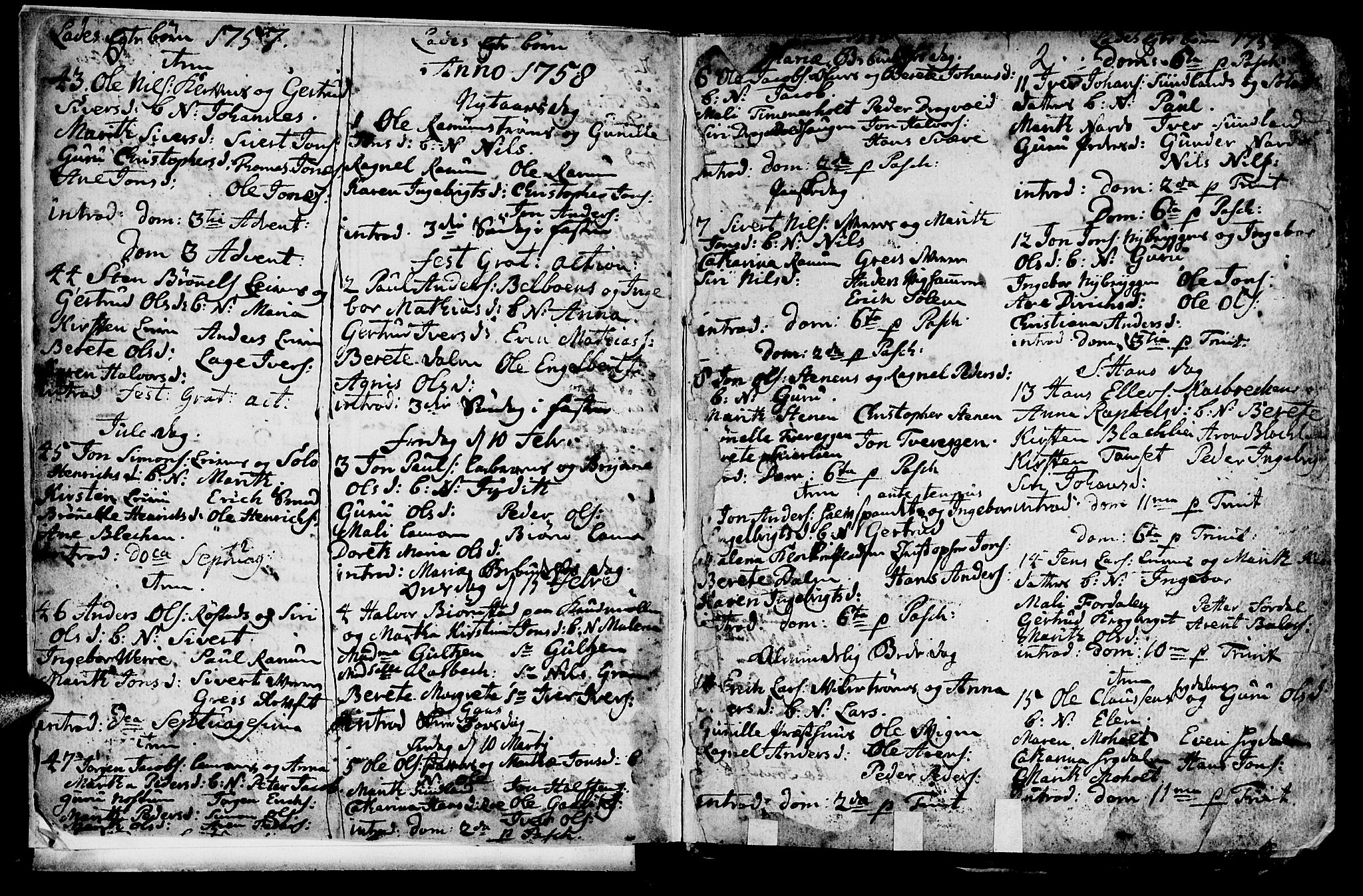 SAT, Ministerialprotokoller, klokkerbøker og fødselsregistre - Sør-Trøndelag, 606/L0305: Klokkerbok nr. 606C01, 1757-1819, s. 2
