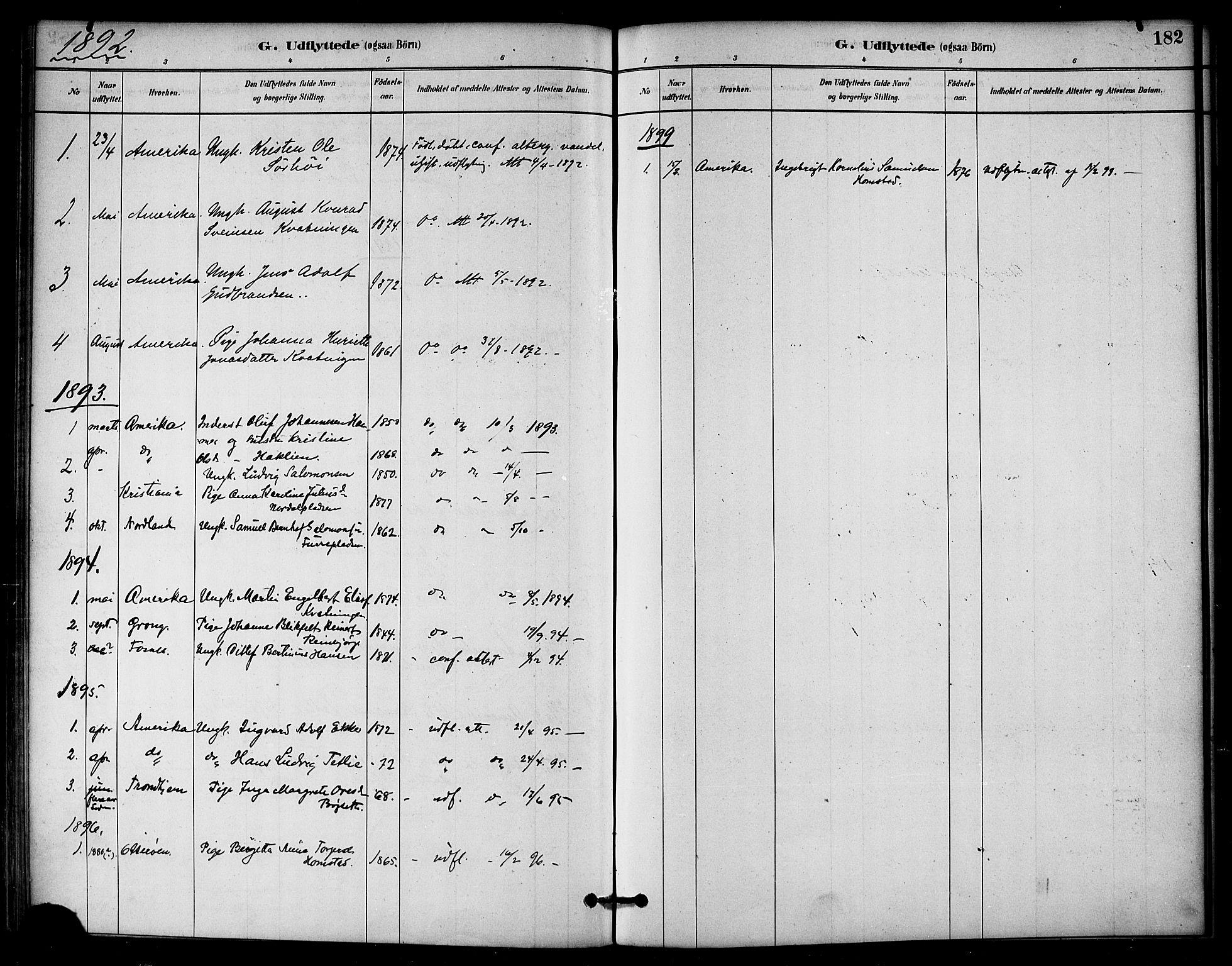 SAT, Ministerialprotokoller, klokkerbøker og fødselsregistre - Nord-Trøndelag, 766/L0563: Ministerialbok nr. 767A01, 1881-1899, s. 182