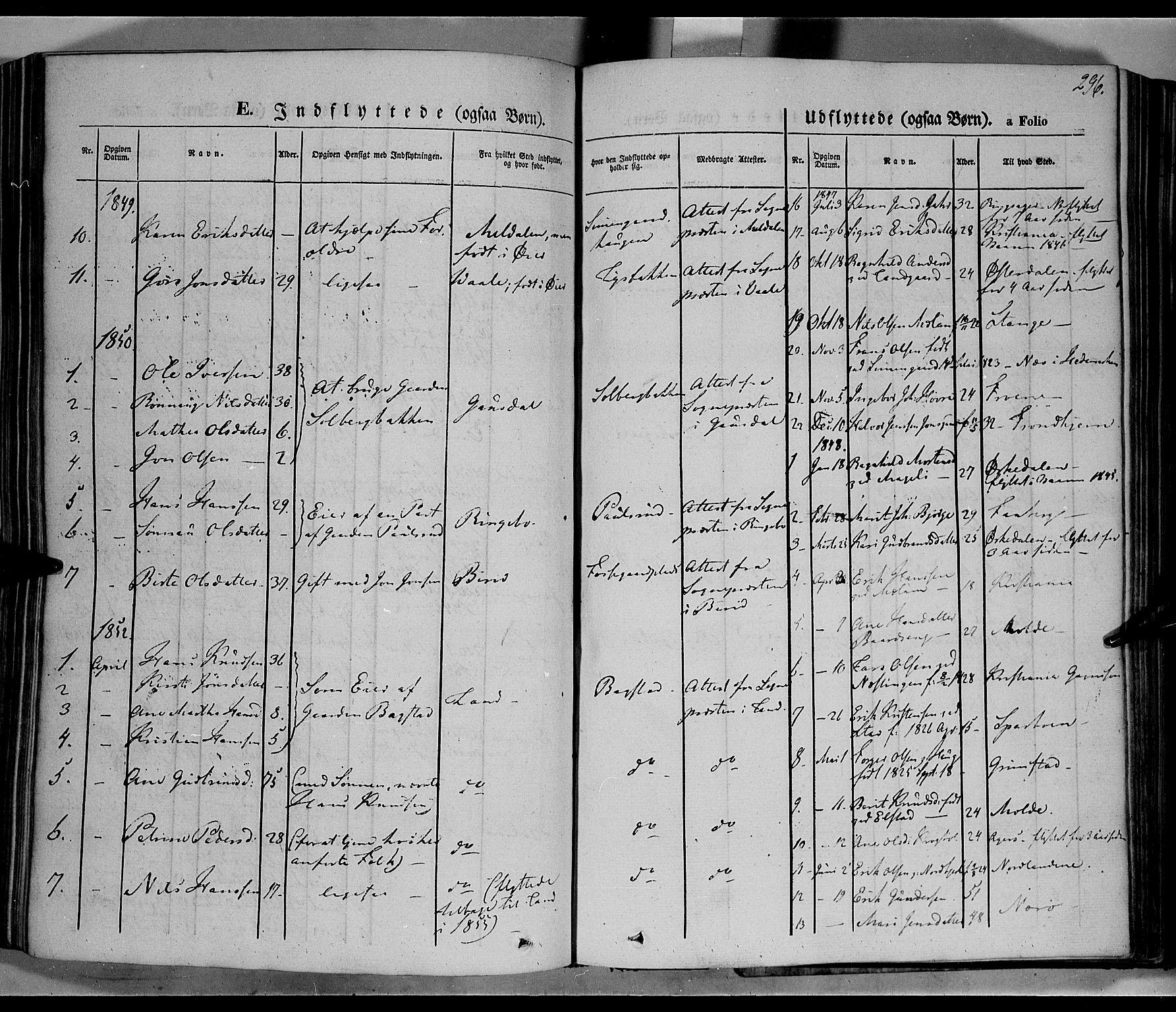 SAH, Øyer prestekontor, Ministerialbok nr. 5, 1842-1857, s. 296