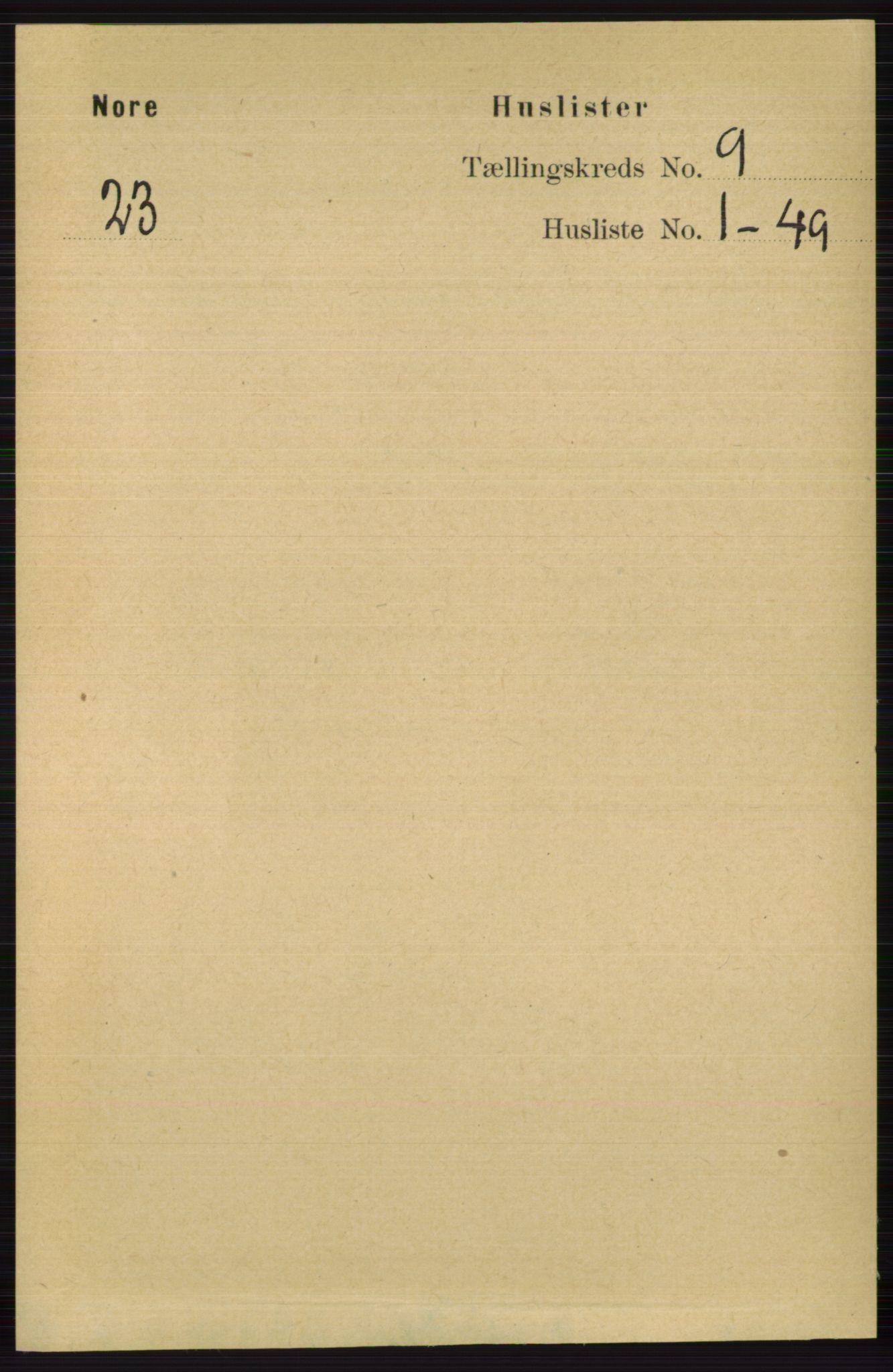 RA, Folketelling 1891 for 0633 Nore herred, 1891, s. 3152