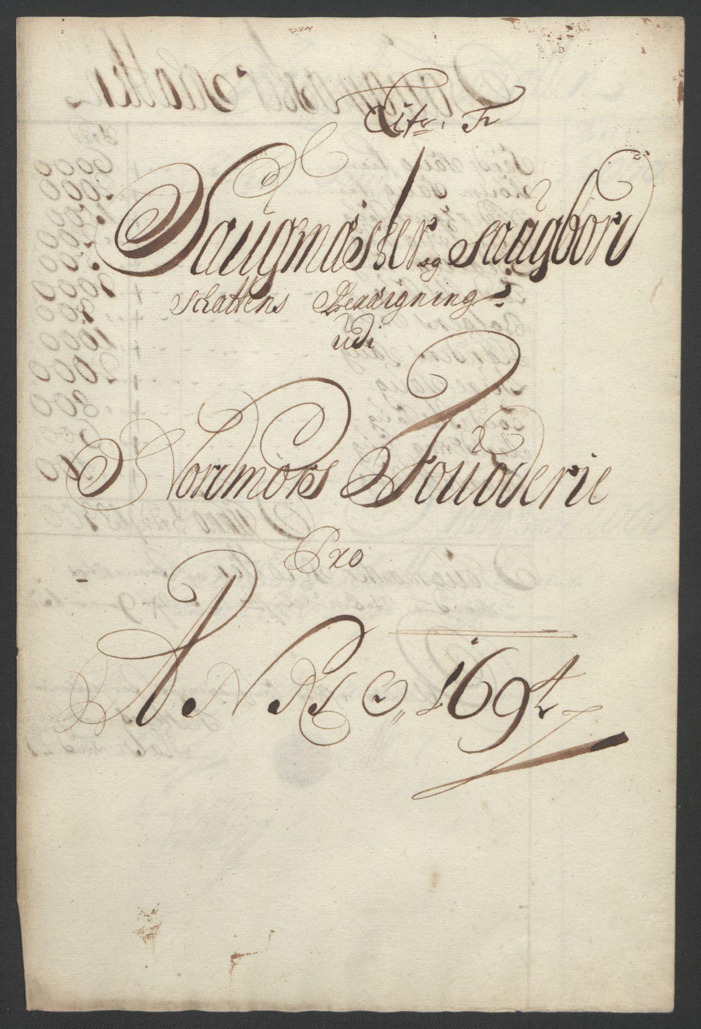 RA, Rentekammeret inntil 1814, Reviderte regnskaper, Fogderegnskap, R56/L3736: Fogderegnskap Nordmøre, 1694-1696, s. 91