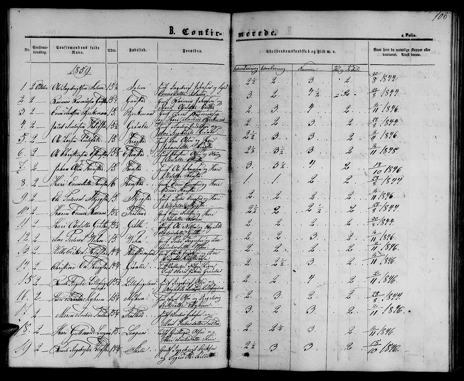 SAT, Ministerialprotokoller, klokkerbøker og fødselsregistre - Sør-Trøndelag, 694/L1131: Klokkerbok nr. 694C03, 1858-1886, s. 106